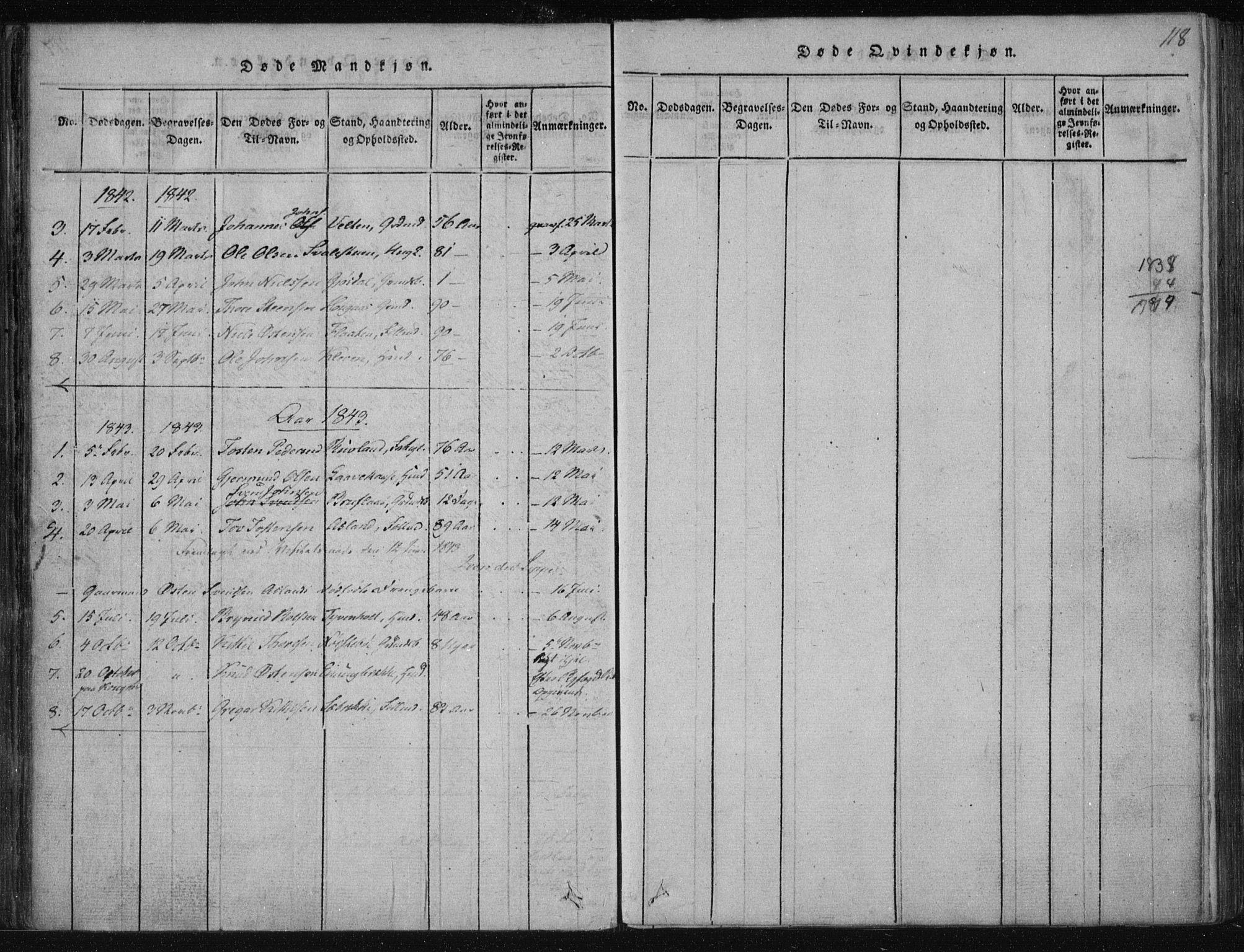 SAKO, Tinn kirkebøker, F/Fa/L0004: Ministerialbok nr. I 4, 1815-1843, s. 118