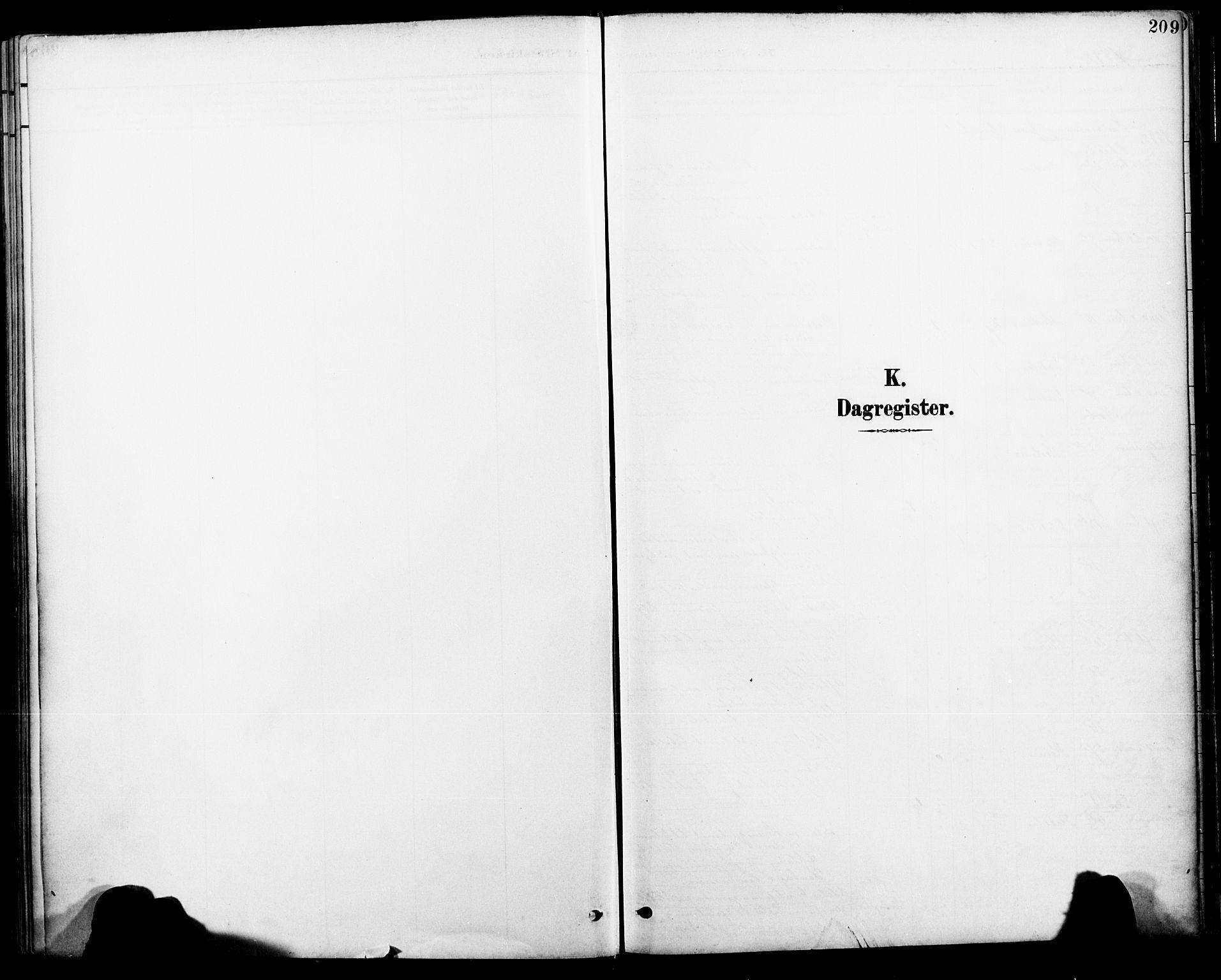 SAT, Ministerialprotokoller, klokkerbøker og fødselsregistre - Nordland, 885/L1205: Ministerialbok nr. 885A06, 1892-1905, s. 209