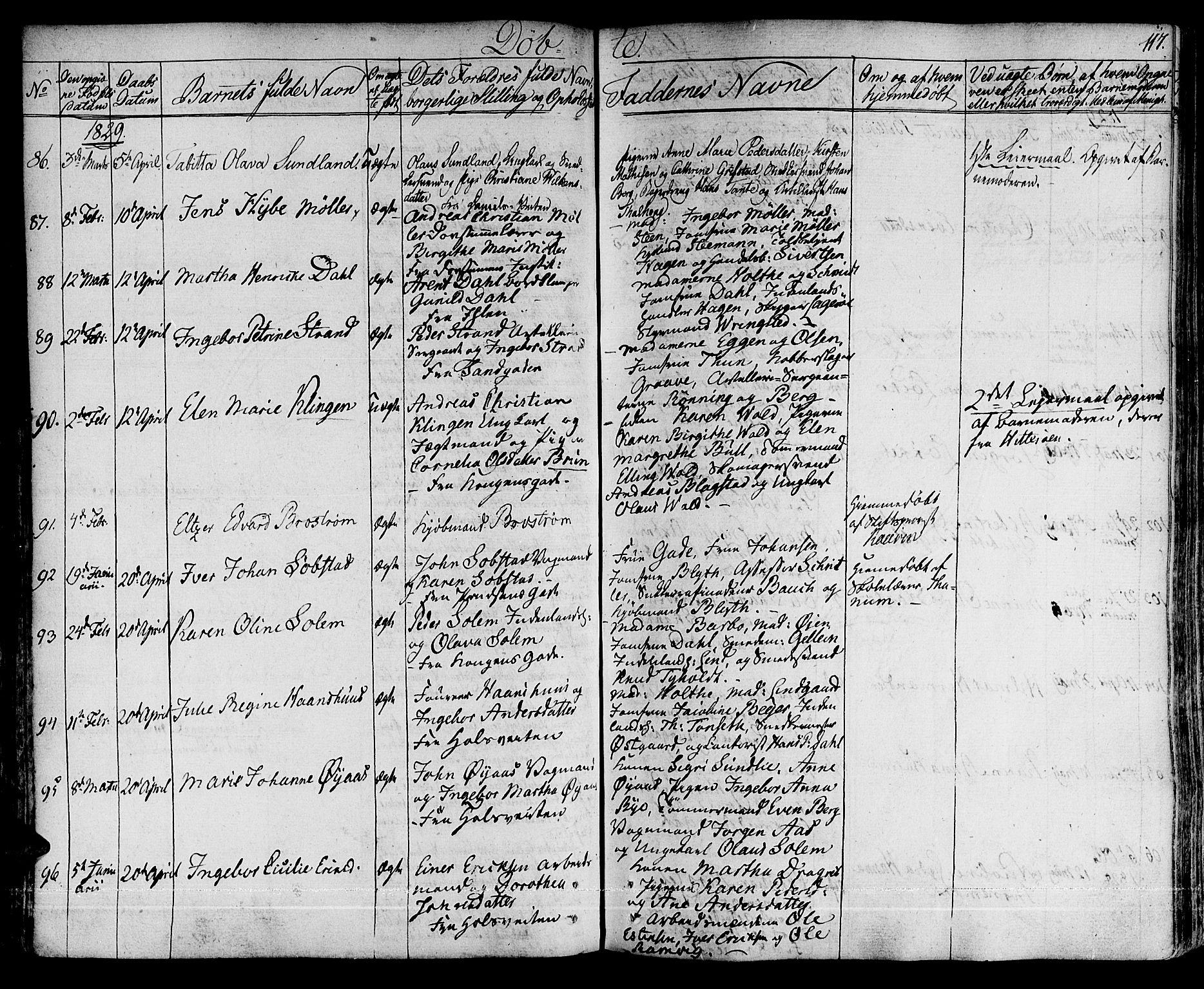 SAT, Ministerialprotokoller, klokkerbøker og fødselsregistre - Sør-Trøndelag, 601/L0045: Ministerialbok nr. 601A13, 1821-1831, s. 117