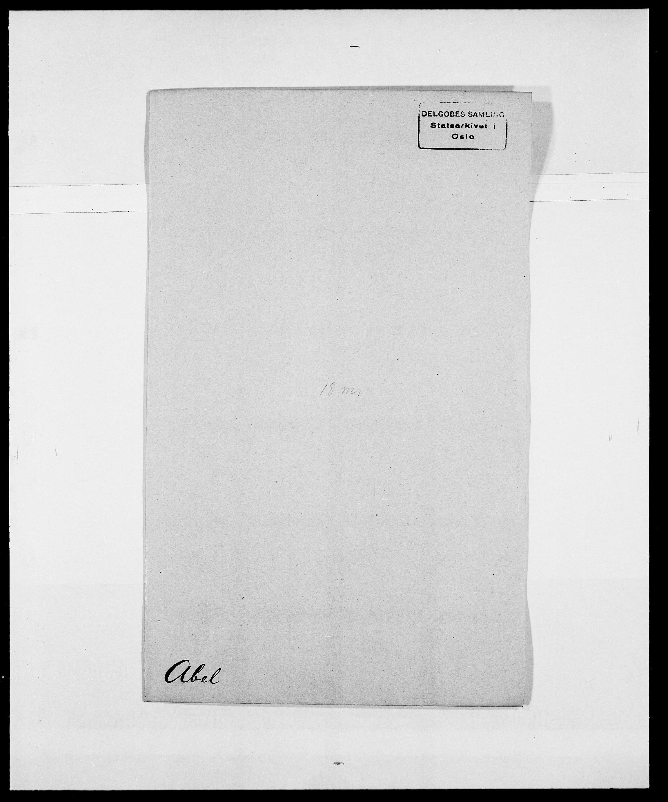 SAO, Delgobe, Charles Antoine - samling, D/Da/L0001: Aabye - Angerman, s. 171