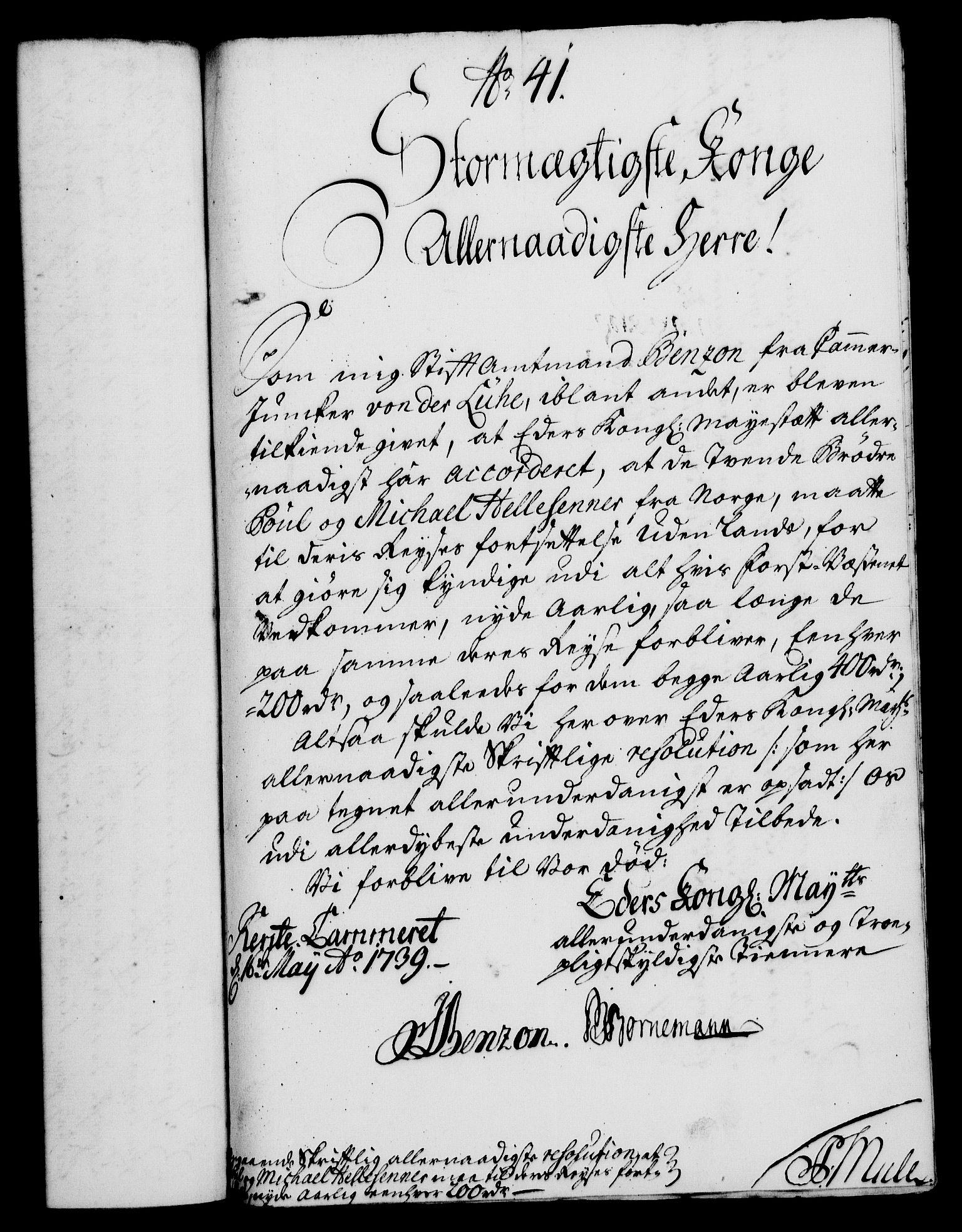 RA, Rentekammeret, Kammerkanselliet, G/Gf/Gfa/L0022: Norsk relasjons- og resolusjonsprotokoll (merket RK 52.22), 1739, s. 331