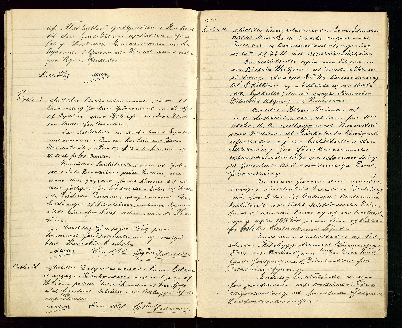 SAST, PA 1533 - A/S Vestlandske Petroleumscompani, A/Aa/L0001: Generalforsamlinger og styreprotokoller, 1907-1915, s. 36