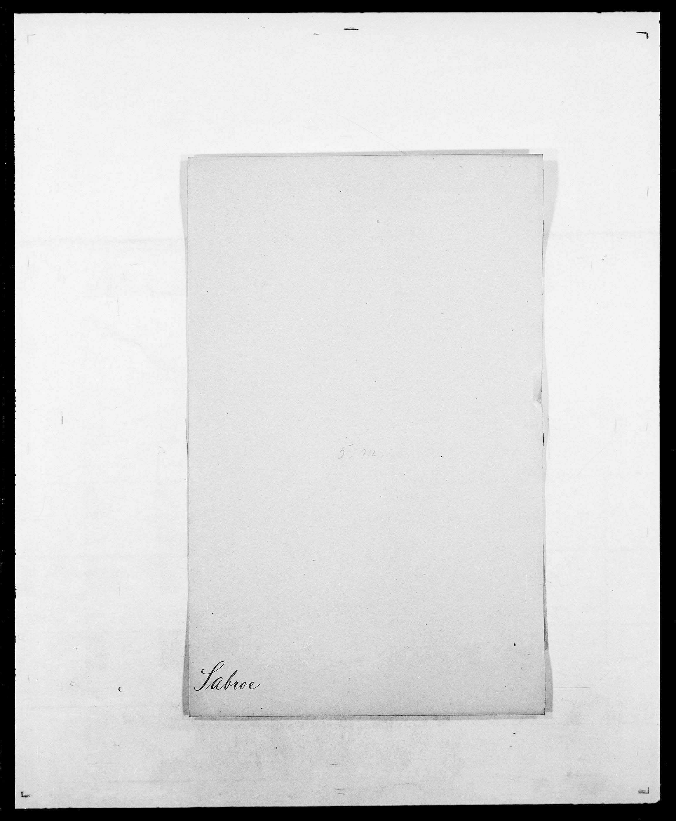 SAO, Delgobe, Charles Antoine - samling, D/Da/L0034: Saabye - Schmincke, s. 13