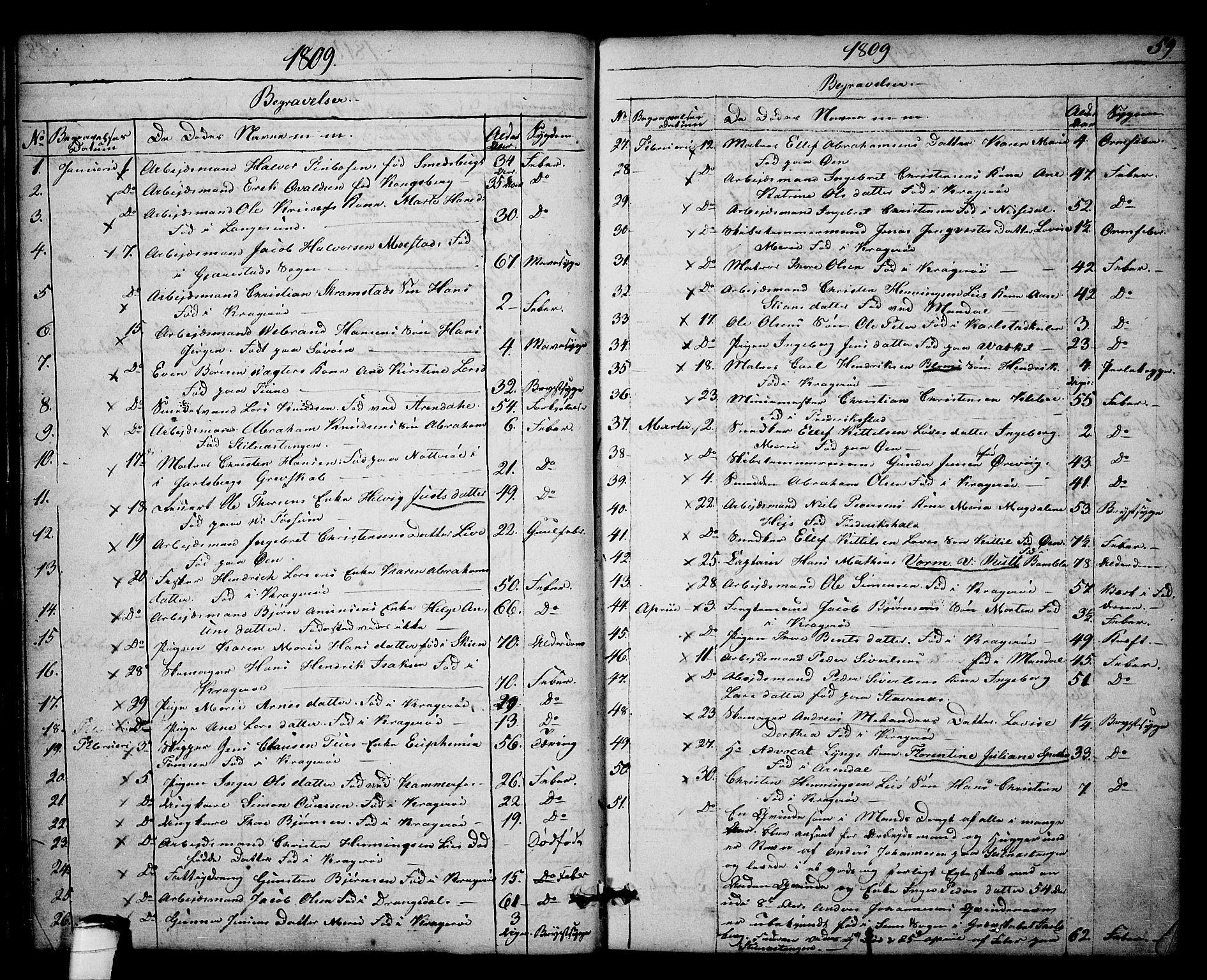 SAKO, Kragerø kirkebøker, F/Fa/L0003: Ministerialbok nr. 3, 1802-1813, s. 59