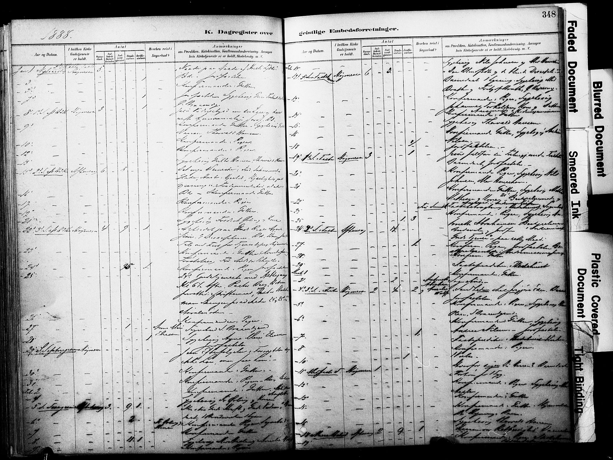 SAKO, Horten kirkebøker, F/Fa/L0004: Ministerialbok nr. 4, 1888-1895, s. 348