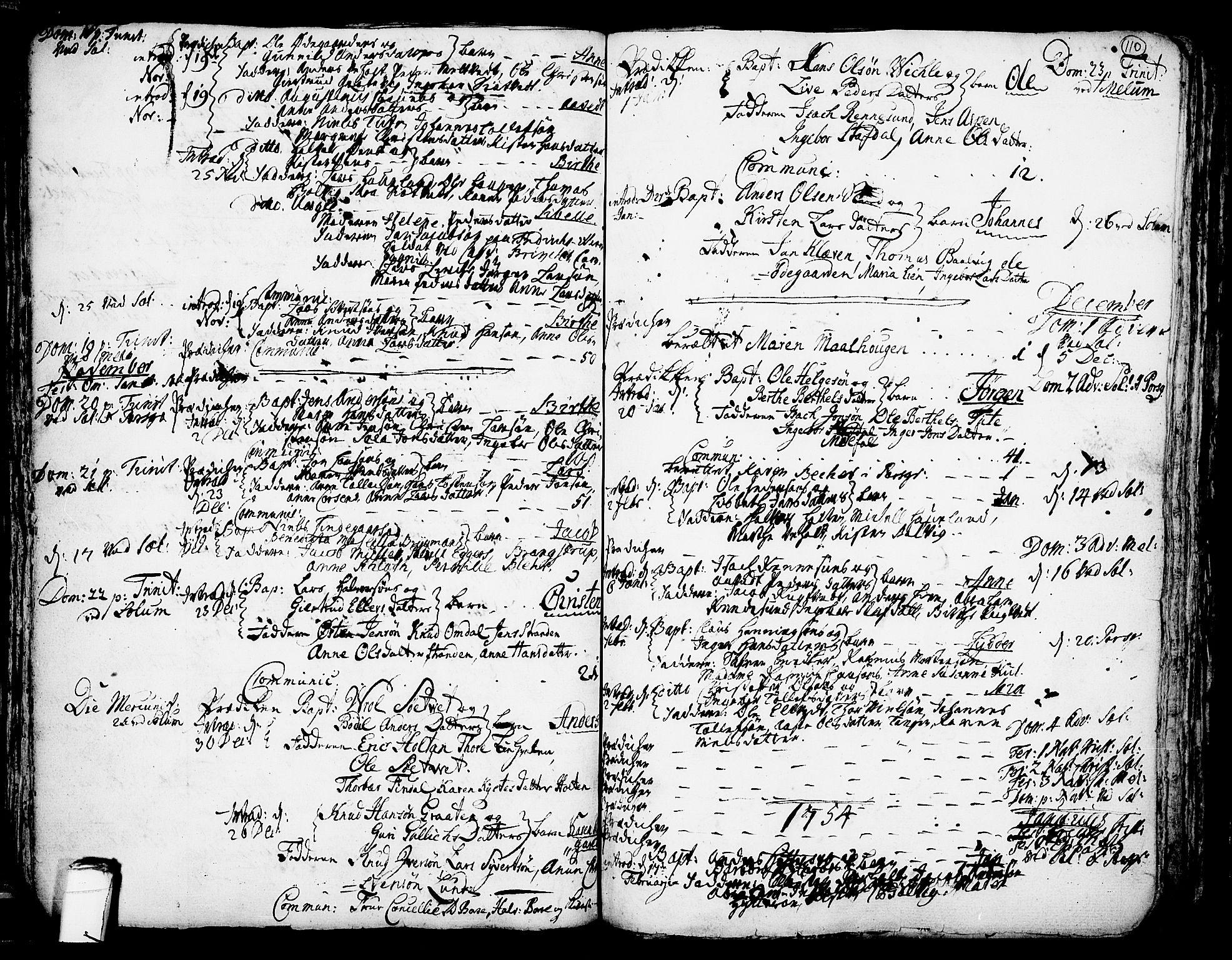 SAKO, Solum kirkebøker, F/Fa/L0002: Ministerialbok nr. I 2, 1713-1761, s. 110