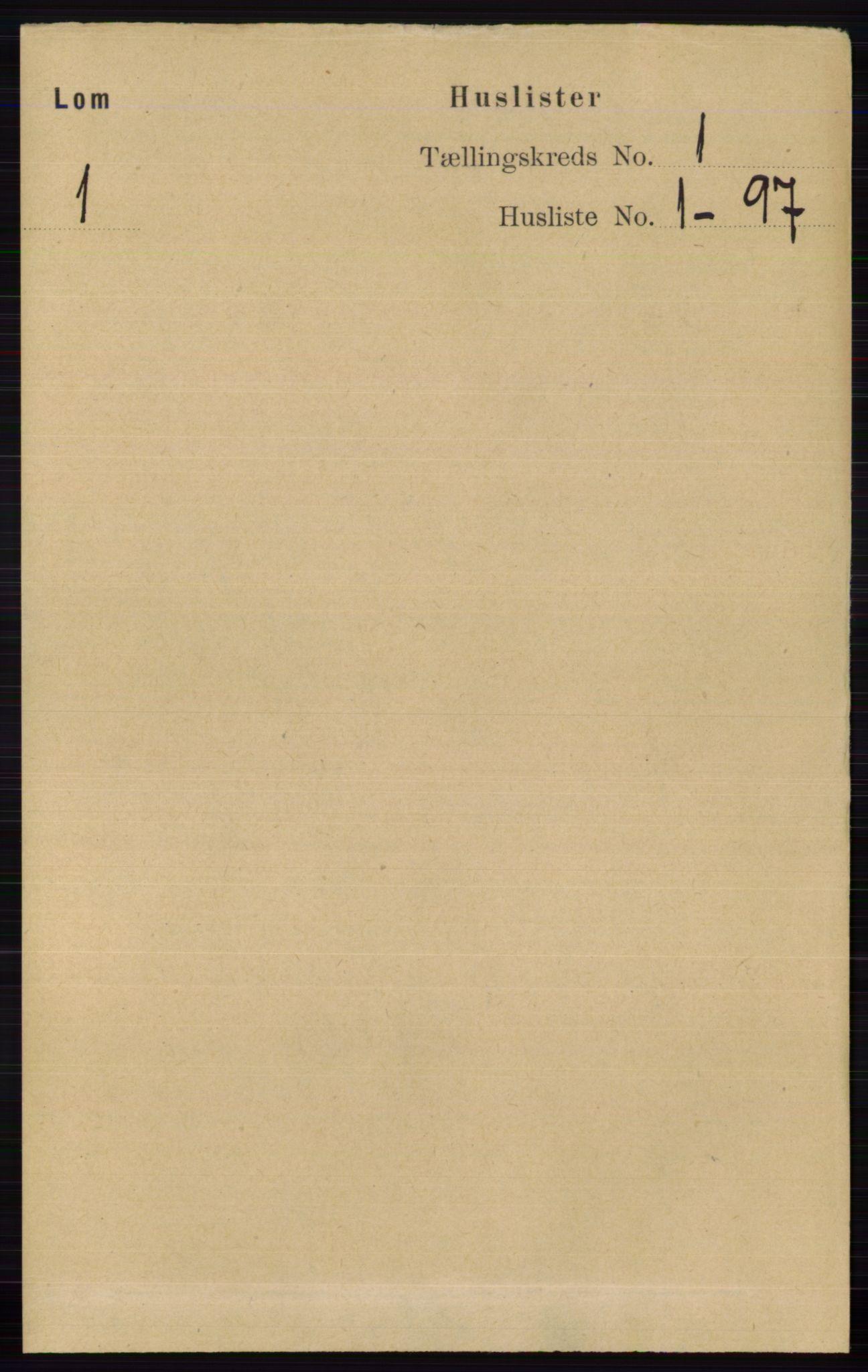 RA, Folketelling 1891 for 0514 Lom herred, 1891, s. 21