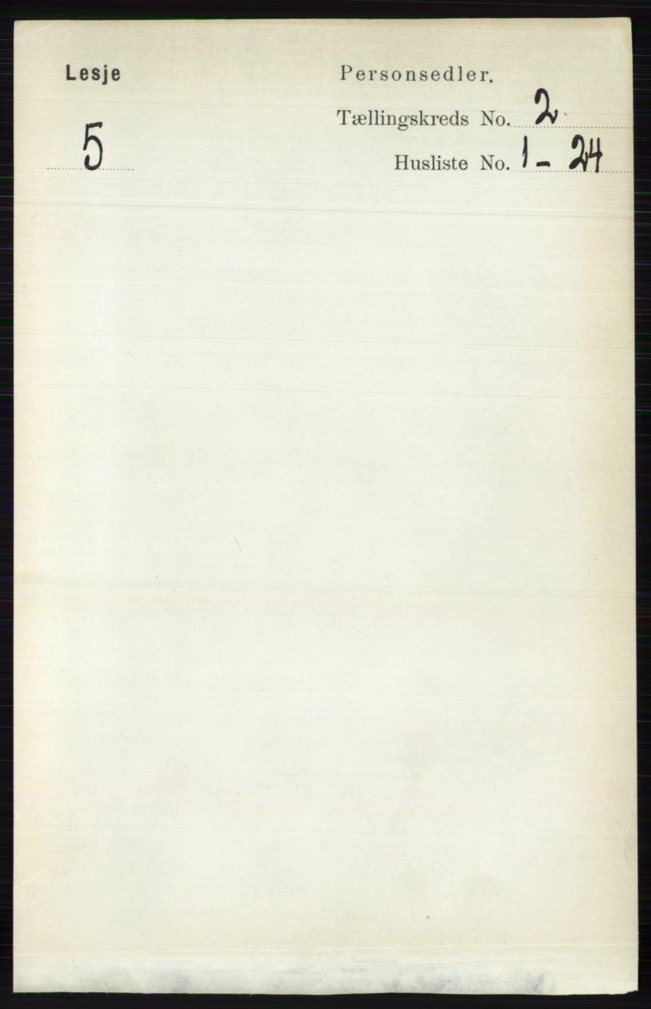 RA, Folketelling 1891 for 0512 Lesja herred, 1891, s. 395