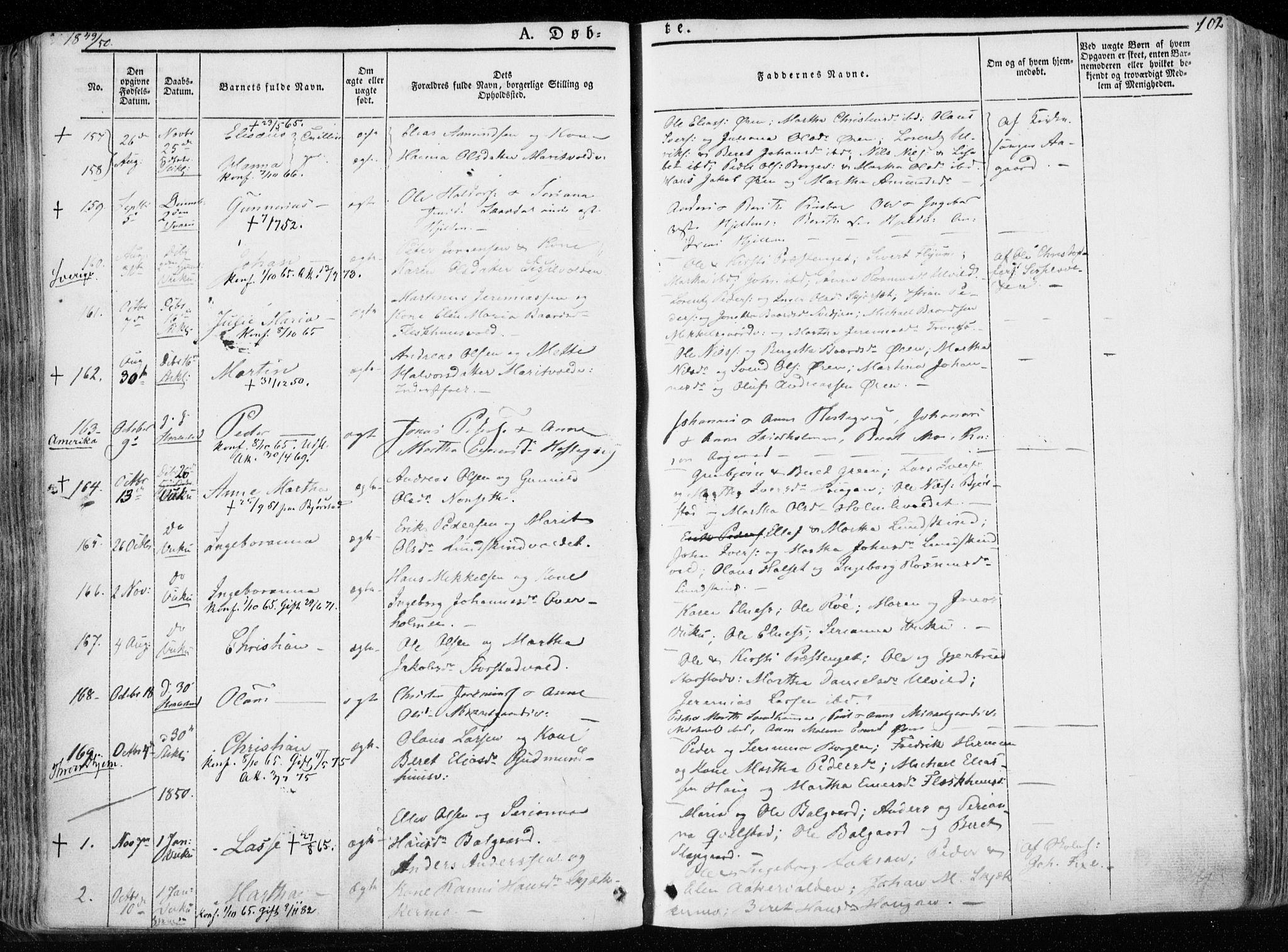 SAT, Ministerialprotokoller, klokkerbøker og fødselsregistre - Nord-Trøndelag, 723/L0239: Ministerialbok nr. 723A08, 1841-1851, s. 102