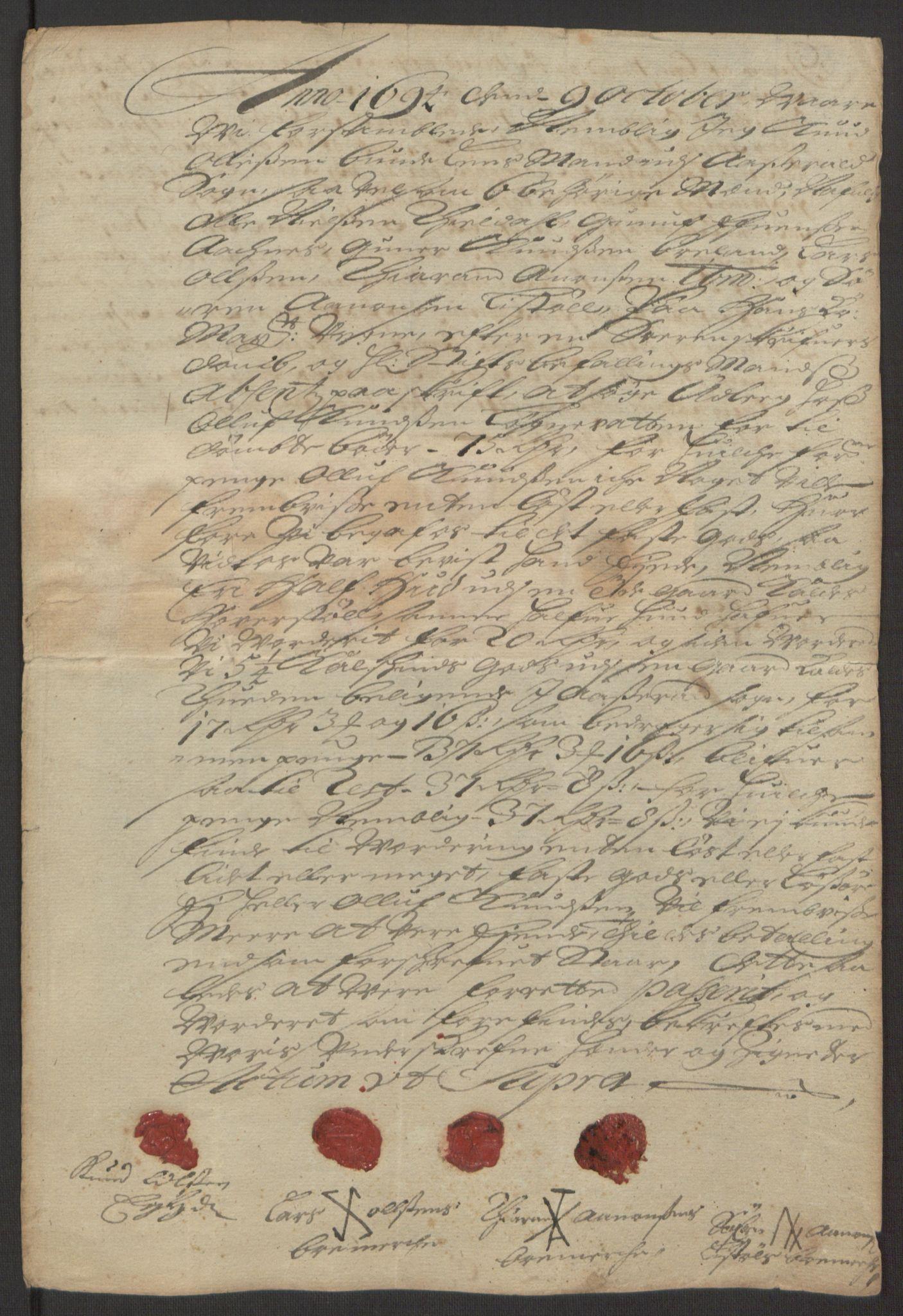 RA, Rentekammeret inntil 1814, Reviderte regnskaper, Fogderegnskap, R40/L2444: Fogderegnskap Råbyggelag, 1693-1696, s. 162