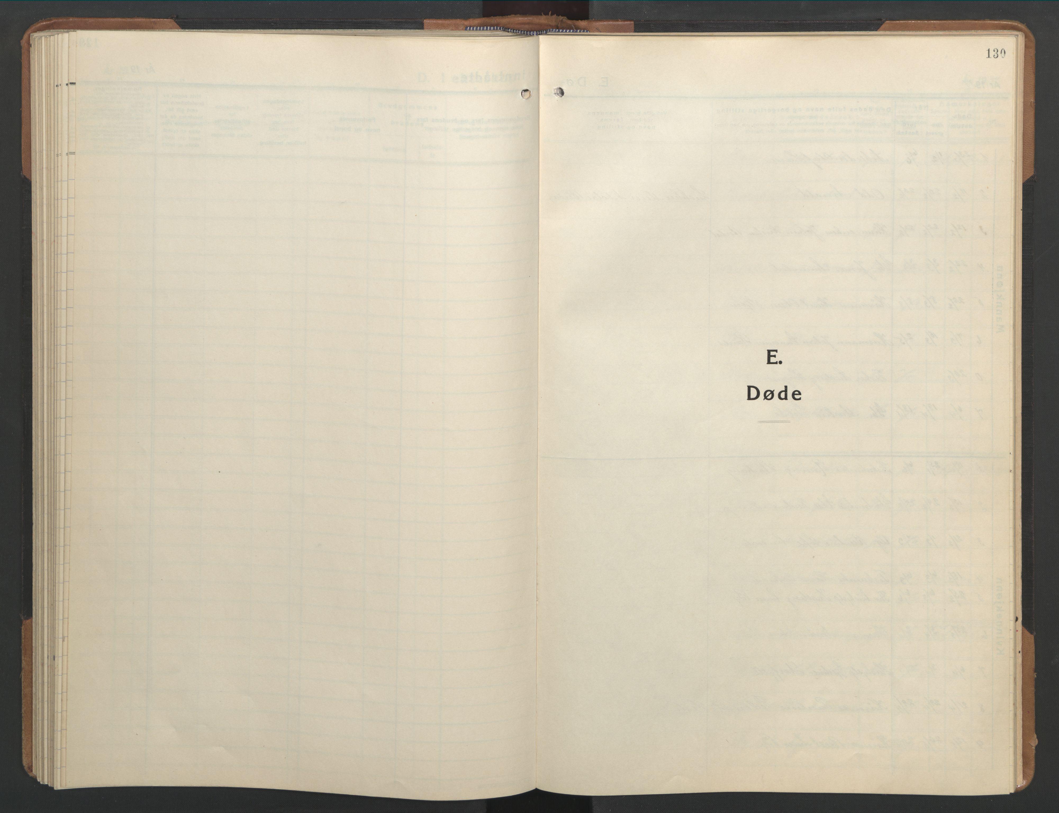 SAT, Ministerialprotokoller, klokkerbøker og fødselsregistre - Sør-Trøndelag, 655/L0690: Klokkerbok nr. 655C06, 1937-1950, s. 130