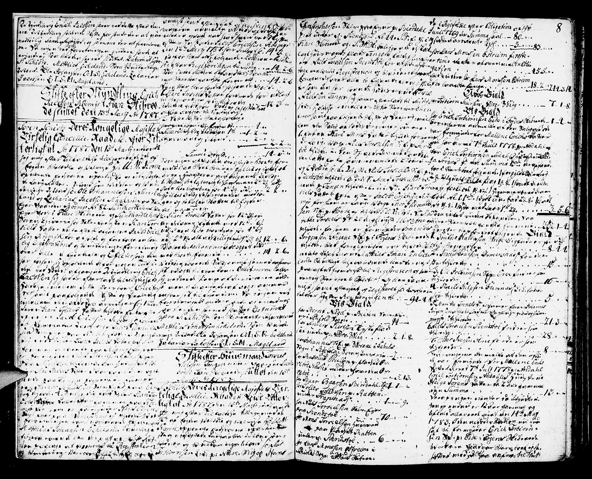 SAB, Sunnhordland sorenskrivar, H/Haa/L0010: Skifteprotokollar. Register i protokoll. Fol. 565-ut, 1787-1790, s. 7b-8a
