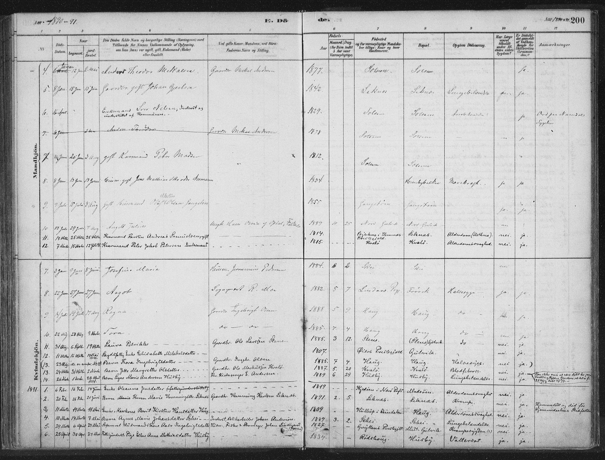 SAT, Ministerialprotokoller, klokkerbøker og fødselsregistre - Nord-Trøndelag, 788/L0697: Ministerialbok nr. 788A04, 1878-1902, s. 200