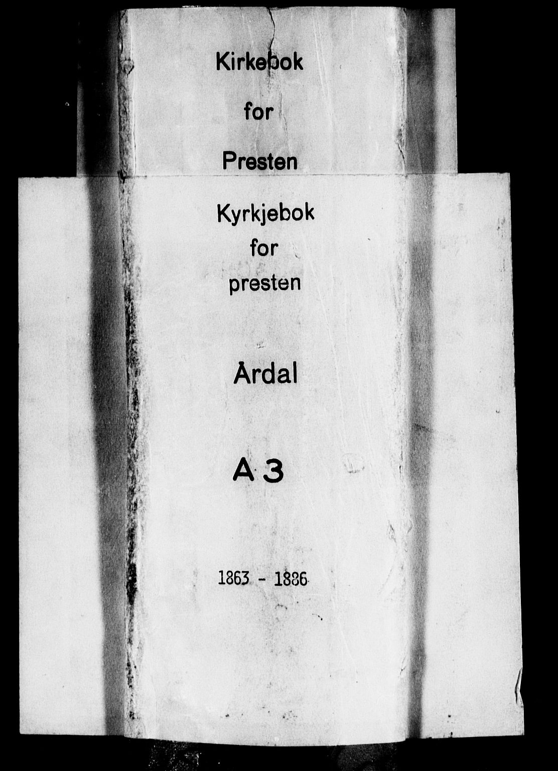 SAB, Årdal Sokneprestembete, Ministerialbok nr. A 3, 1863-1886