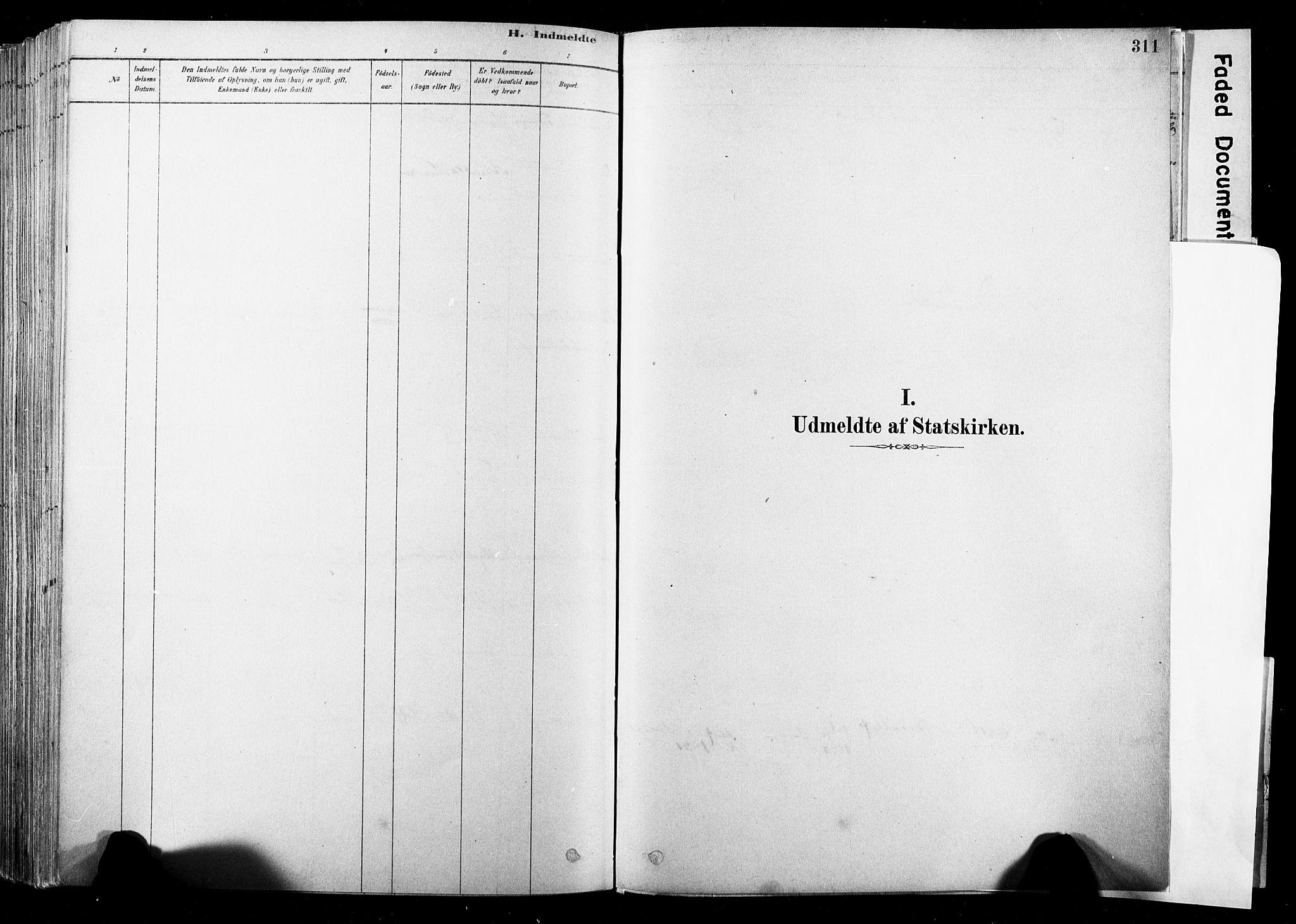 SAKO, Strømsø kirkebøker, F/Fb/L0006: Ministerialbok nr. II 6, 1879-1910, s. 311