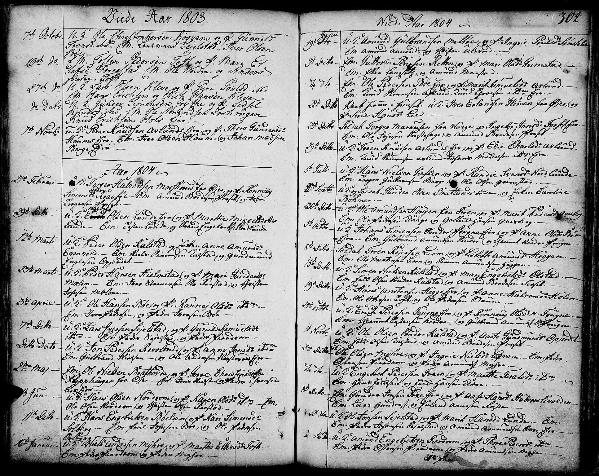 SAH, Gausdal prestekontor, Ministerialbok nr. 3, 1758-1809, s. 304