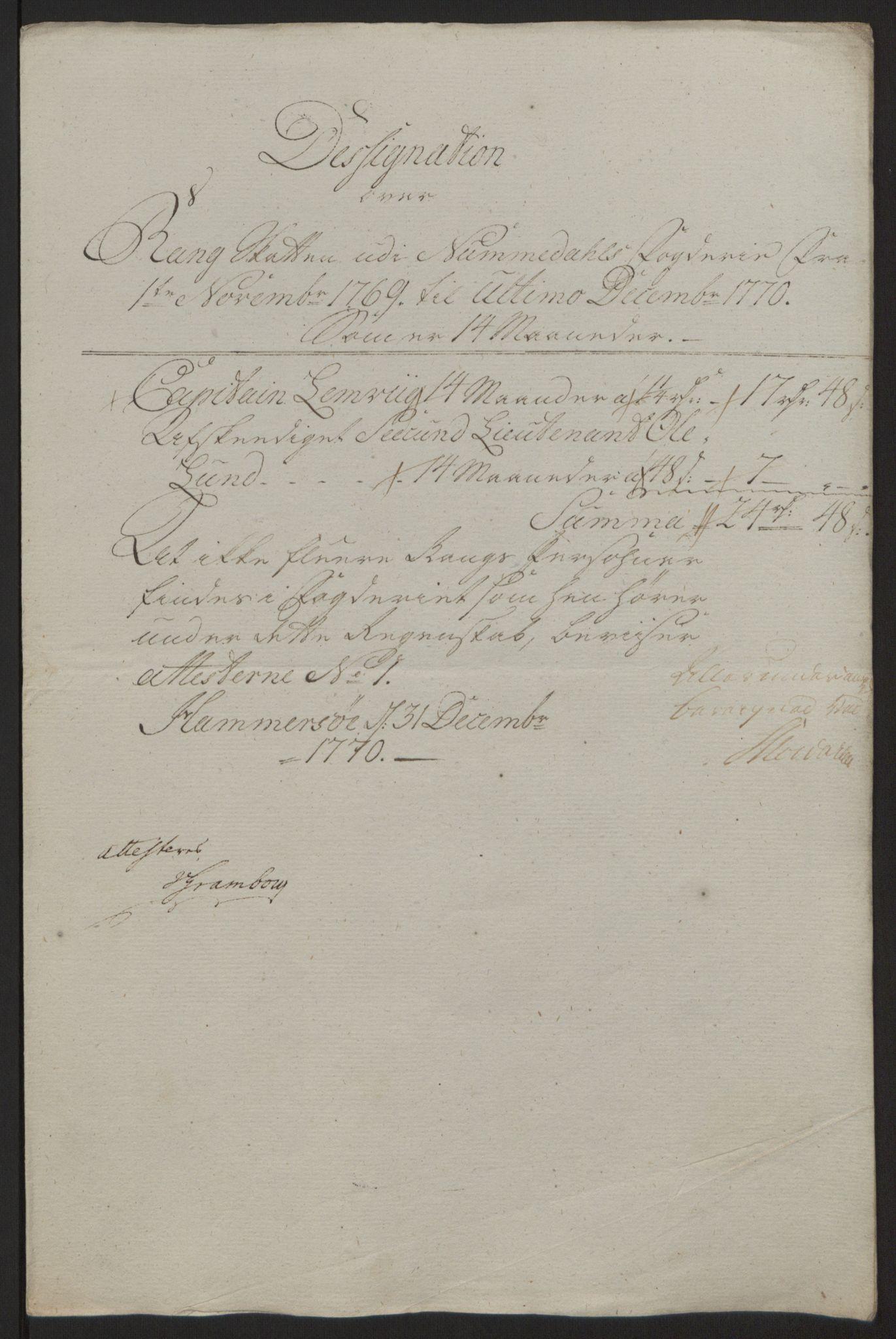 RA, Rentekammeret inntil 1814, Reviderte regnskaper, Fogderegnskap, R64/L4502: Ekstraskatten Namdal, 1762-1772, s. 359
