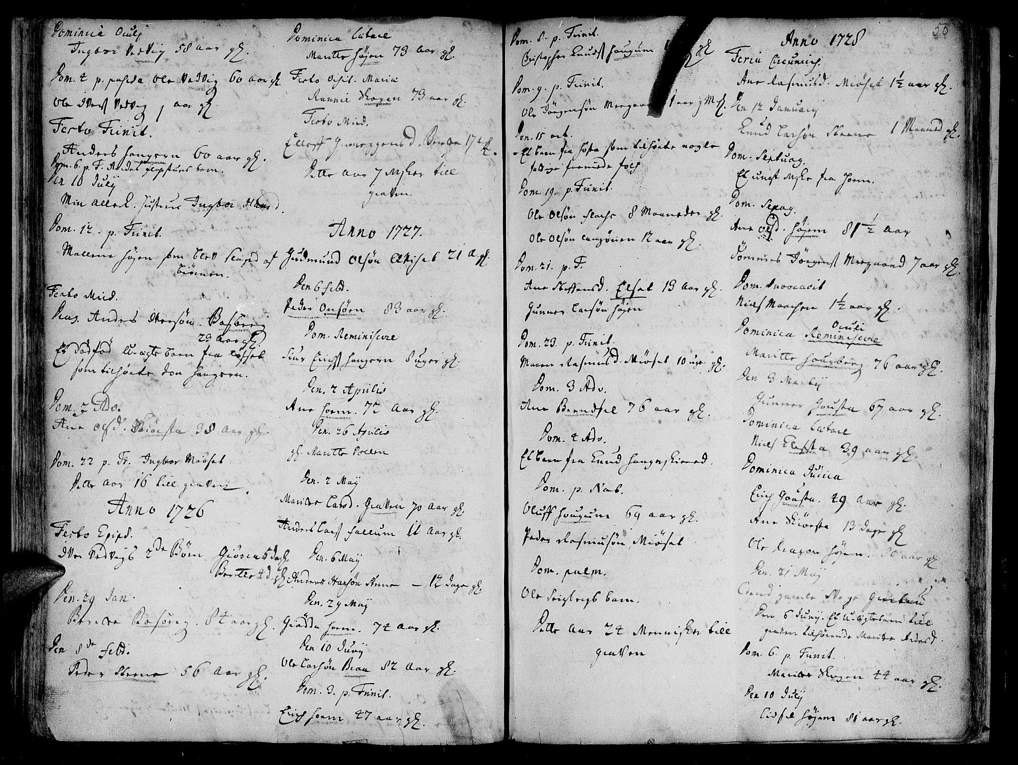 SAT, Ministerialprotokoller, klokkerbøker og fødselsregistre - Sør-Trøndelag, 612/L0368: Ministerialbok nr. 612A02, 1702-1753, s. 50