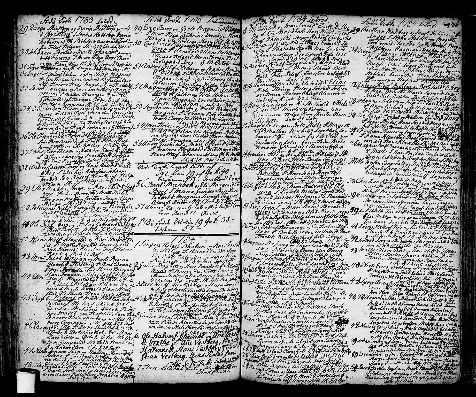 SAO, Skjeberg prestekontor Kirkebøker, F/Fa/L0002: Ministerialbok nr. I 2, 1726-1791, s. 136