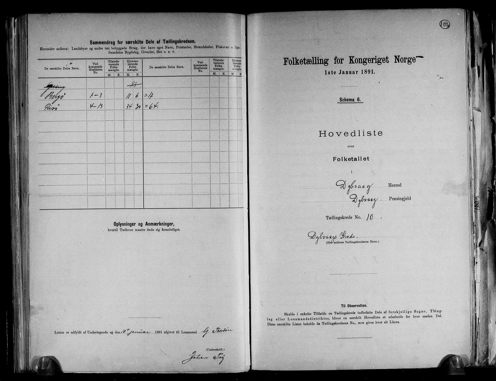 RA, Folketelling 1891 for 0915 Dypvåg herred, 1891, s. 27