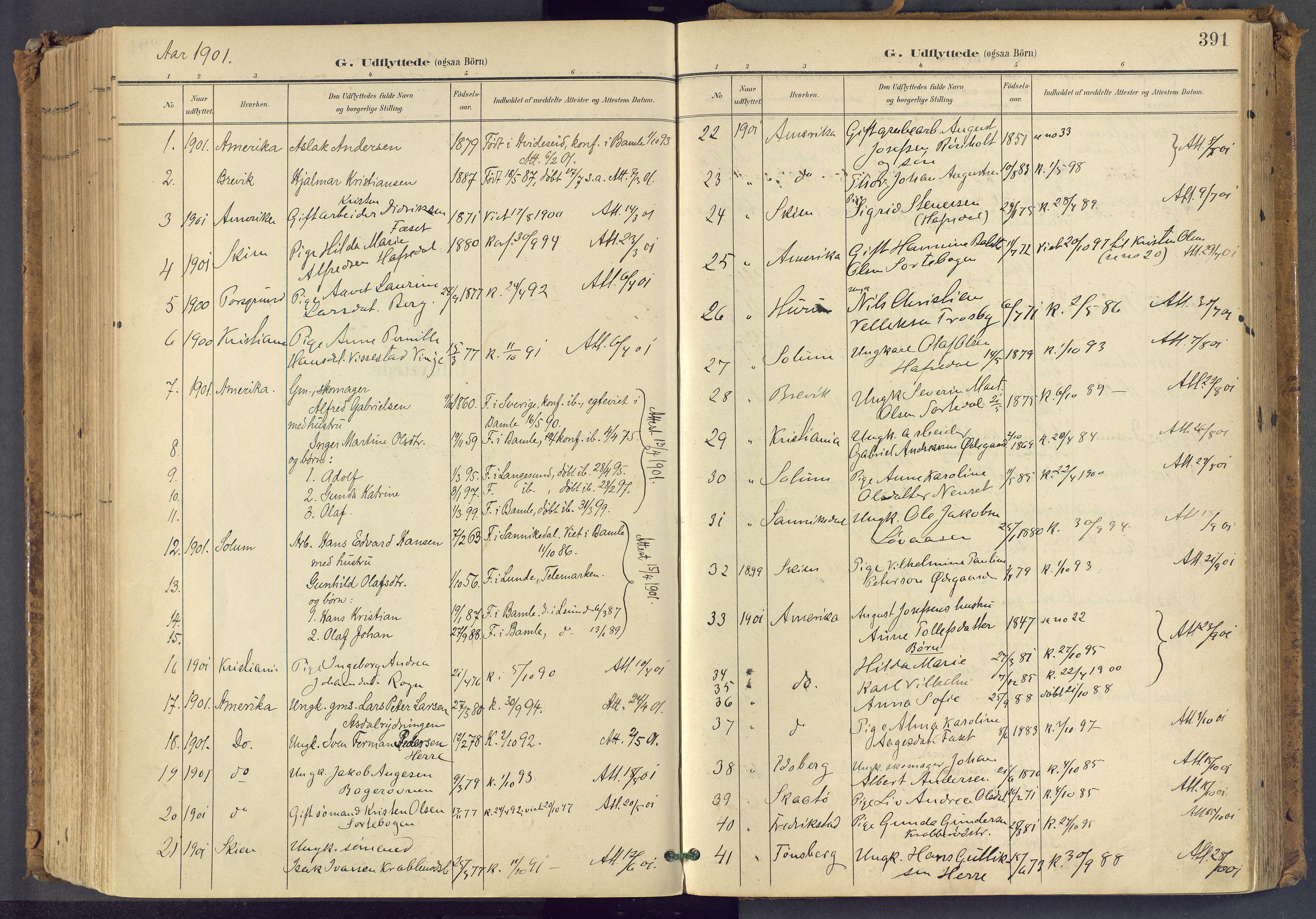 SAKO, Bamble kirkebøker, F/Fa/L0009: Ministerialbok nr. I 9, 1901-1917, s. 391