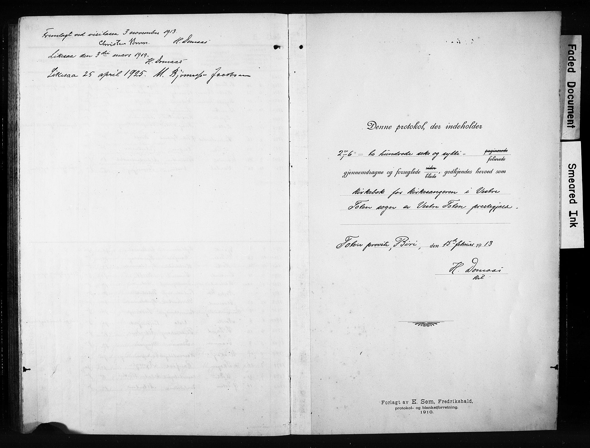 SAH, Vestre Toten prestekontor, H/Ha/Hab/L0012: Klokkerbok nr. 12, 1909-1928, s. 277