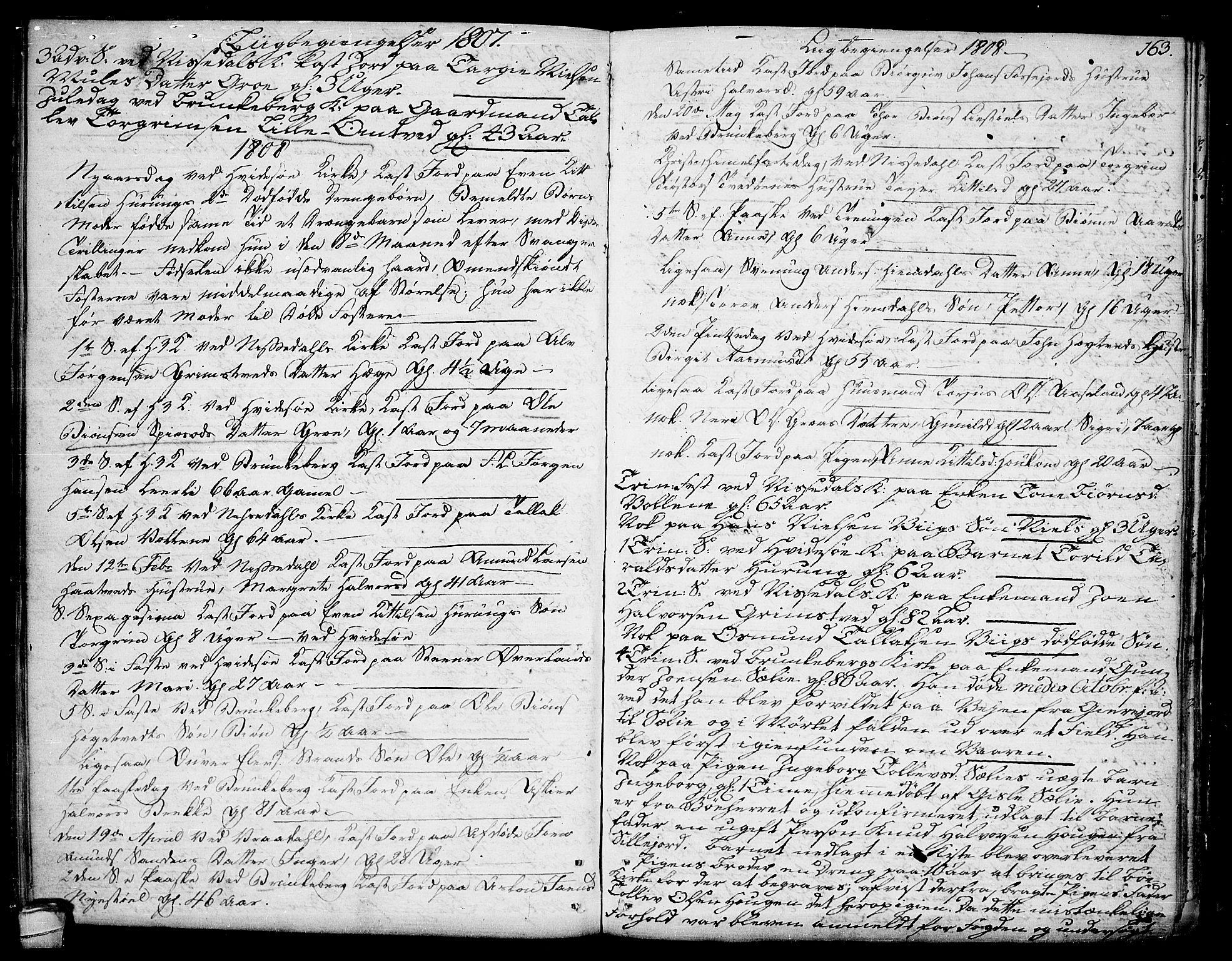 SAKO, Kviteseid kirkebøker, F/Fa/L0004: Ministerialbok nr. I 4, 1800-1814, s. 163
