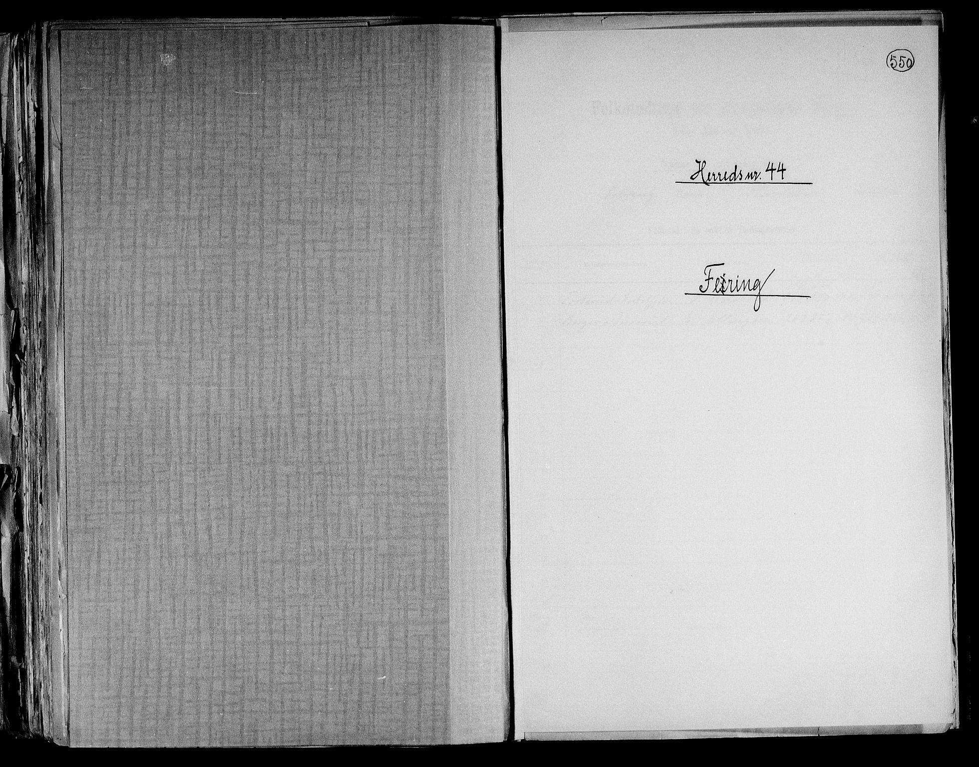 RA, Folketelling 1891 for 0240 Feiring herred, 1891, s. 1