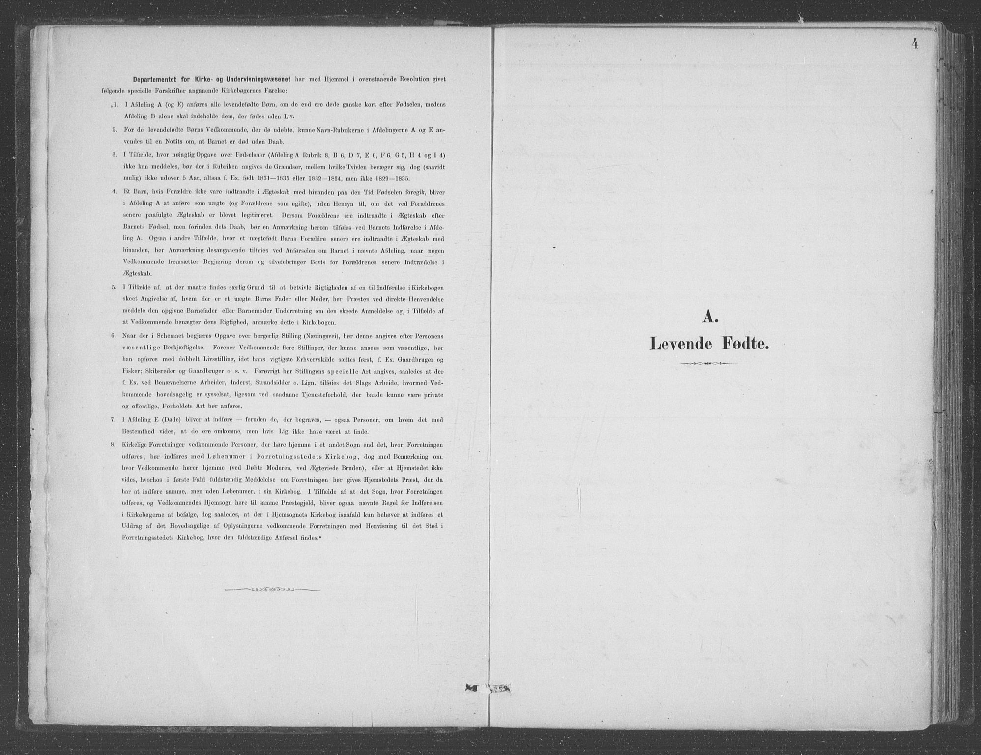SAB, Aurland Sokneprestembete*, Ministerialbok nr. B  1, 1880-1909, s. 4