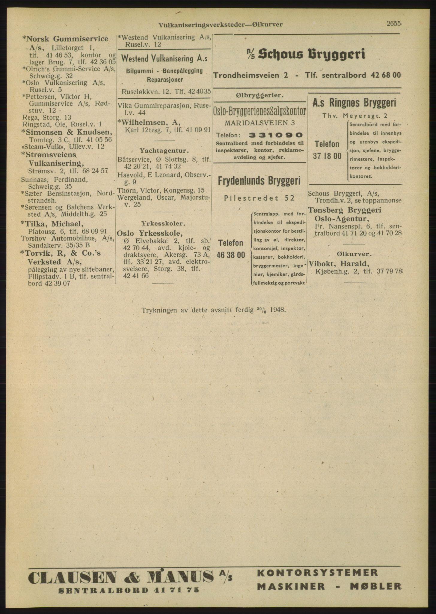 RA, Oslo adressebok (publikasjon)*, 1948, s. 2655