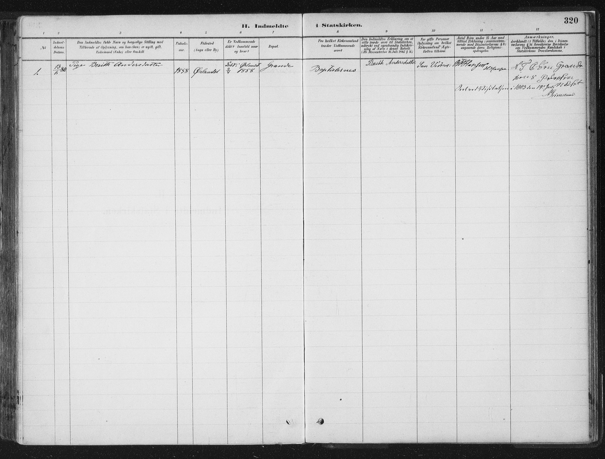 SAT, Ministerialprotokoller, klokkerbøker og fødselsregistre - Sør-Trøndelag, 659/L0739: Ministerialbok nr. 659A09, 1879-1893, s. 320