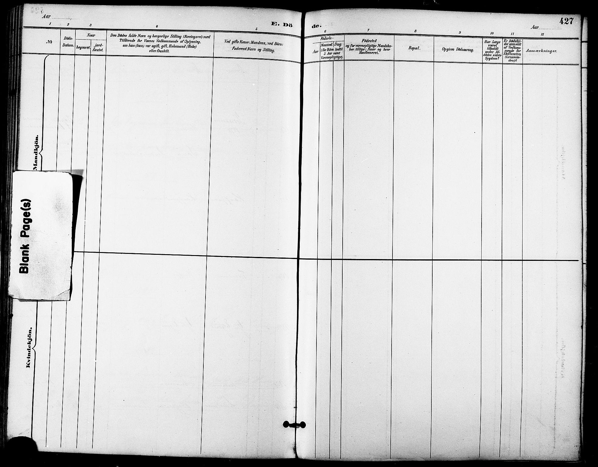 SATØ, Trondenes sokneprestkontor, H/Ha/L0016kirke: Ministerialbok nr. 16, 1890-1898, s. 427
