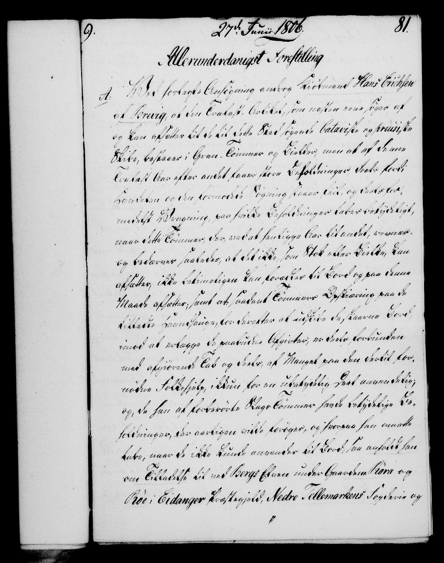RA, Rentekammeret, Kammerkanselliet, G/Gf/Gfa/L0088: Norsk relasjons- og resolusjonsprotokoll (merket RK 52.88), 1806, s. 503