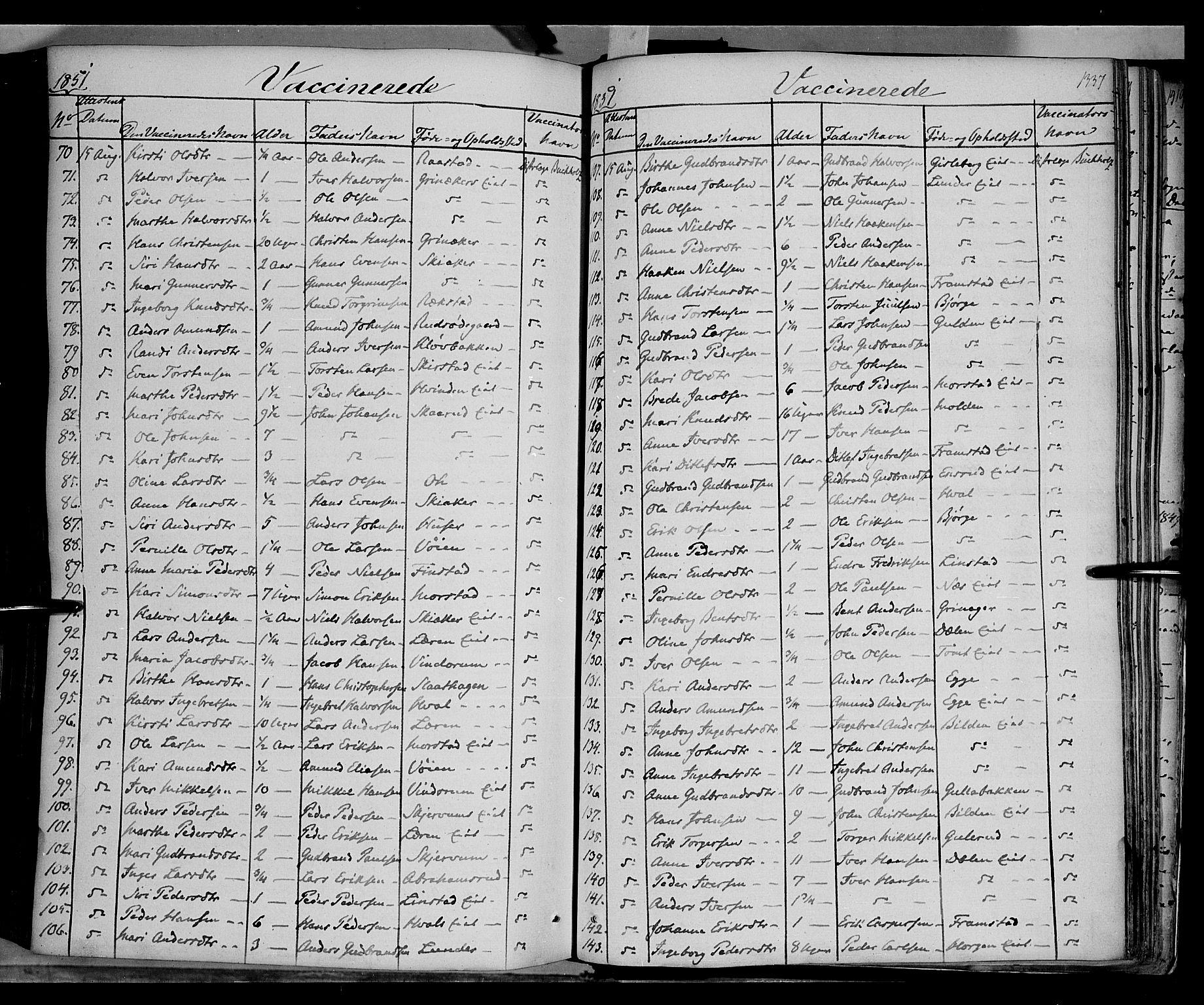 SAH, Gran prestekontor, Ministerialbok nr. 11, 1842-1856, s. 1336-1337
