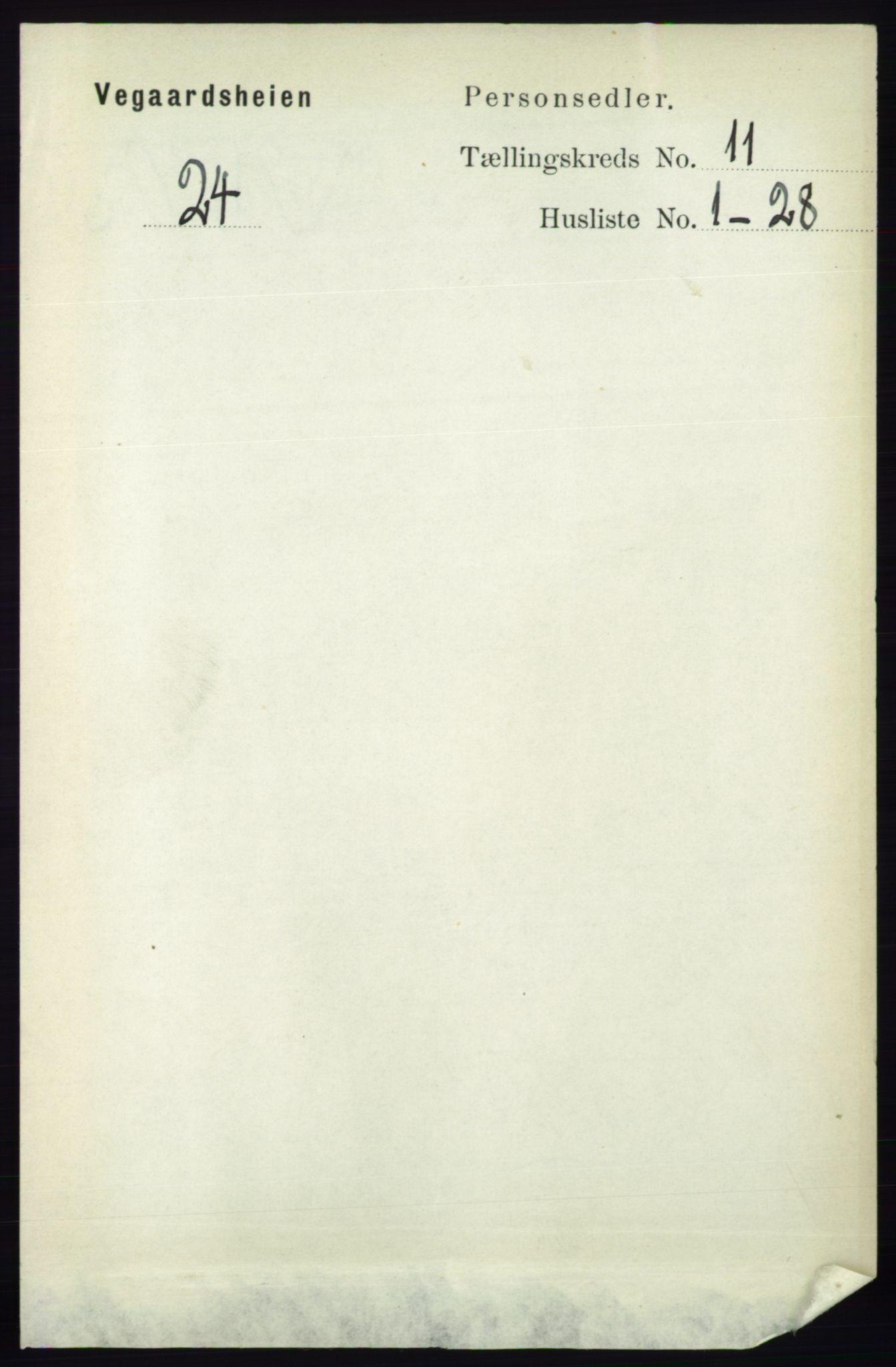 RA, Folketelling 1891 for 0912 Vegårshei herred, 1891, s. 2189