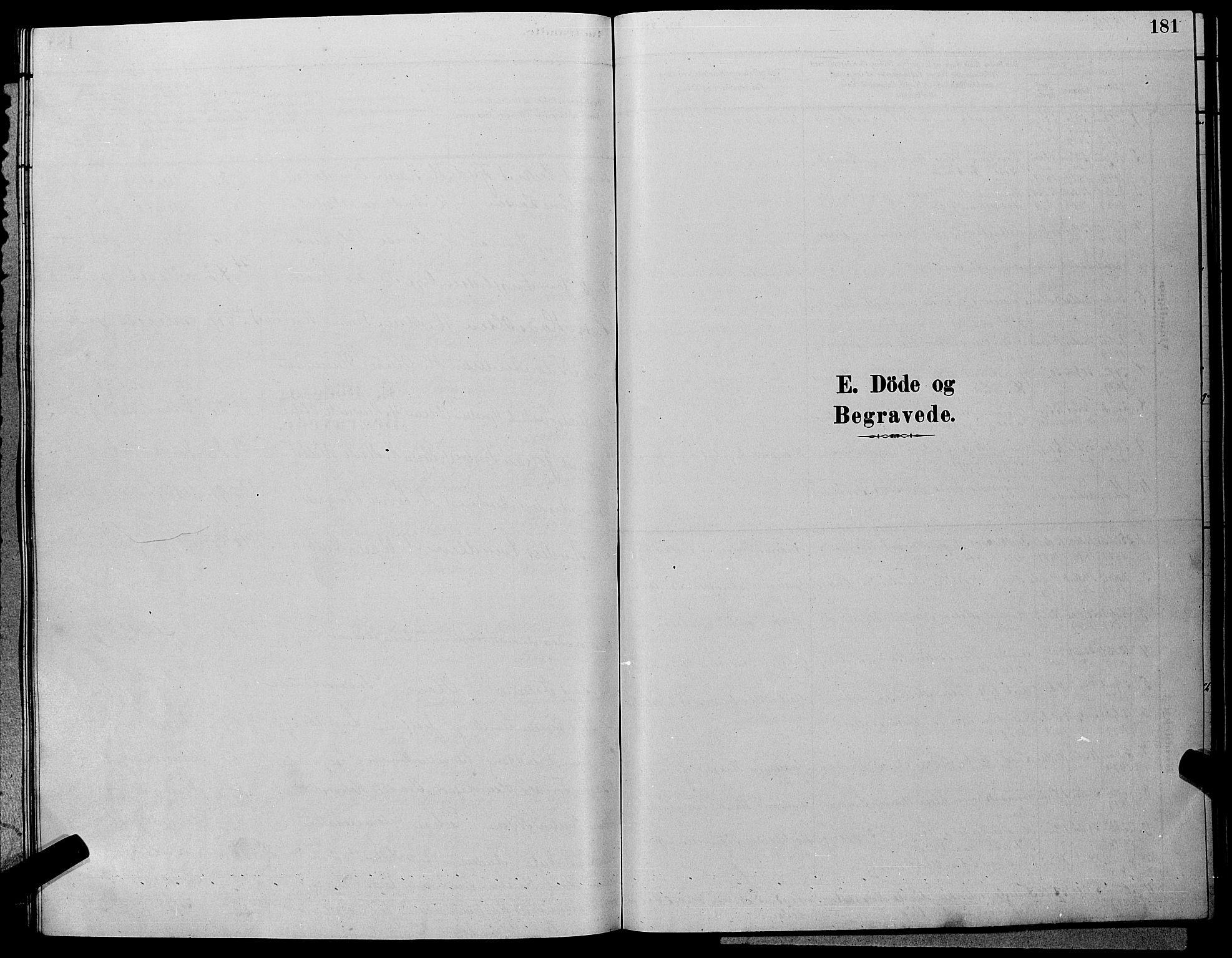 SAKO, Hole kirkebøker, G/Ga/L0003: Klokkerbok nr. I 3, 1879-1904, s. 181