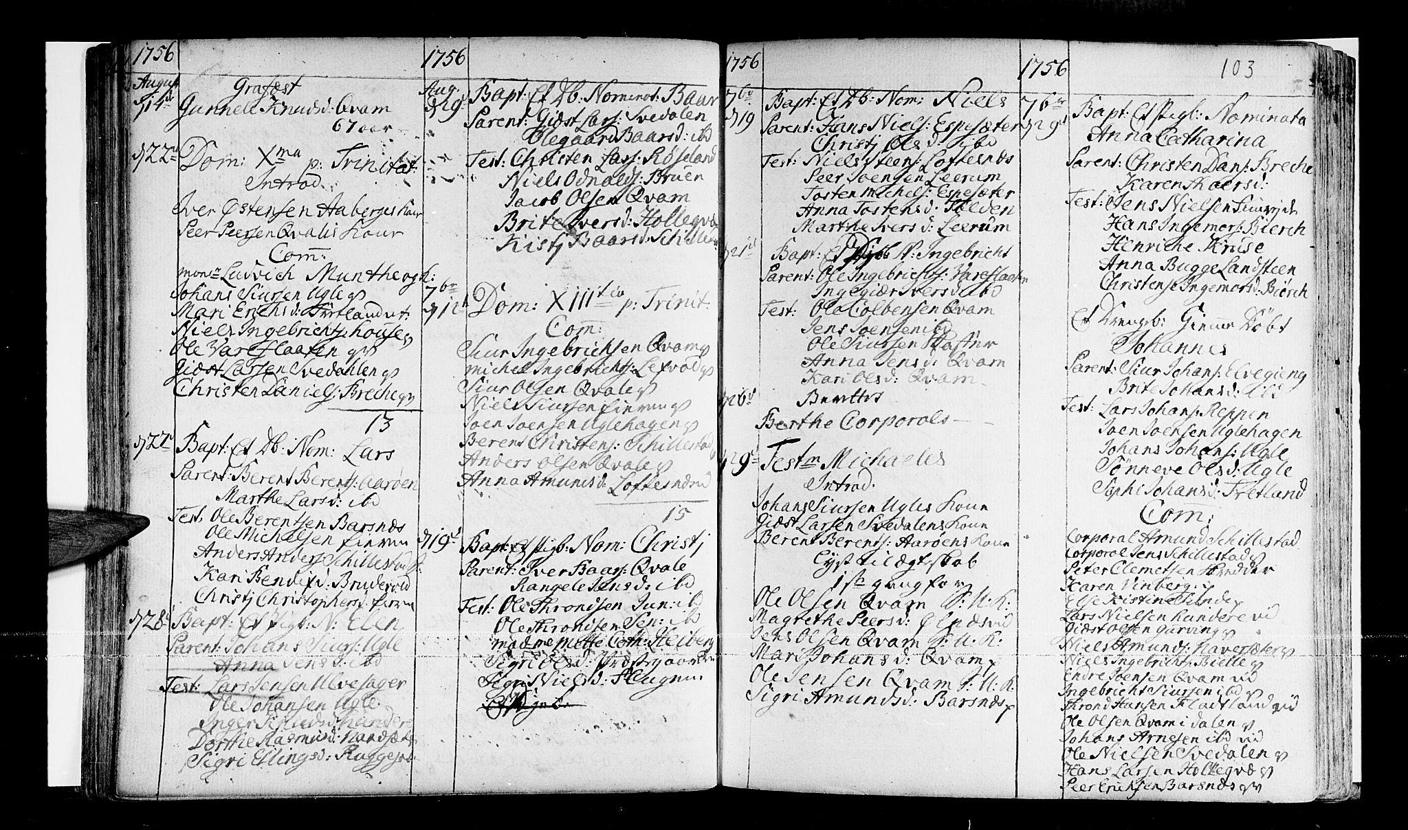 SAB, Sogndal Sokneprestembete, Ministerialbok nr. A 3, 1747-1768, s. 103