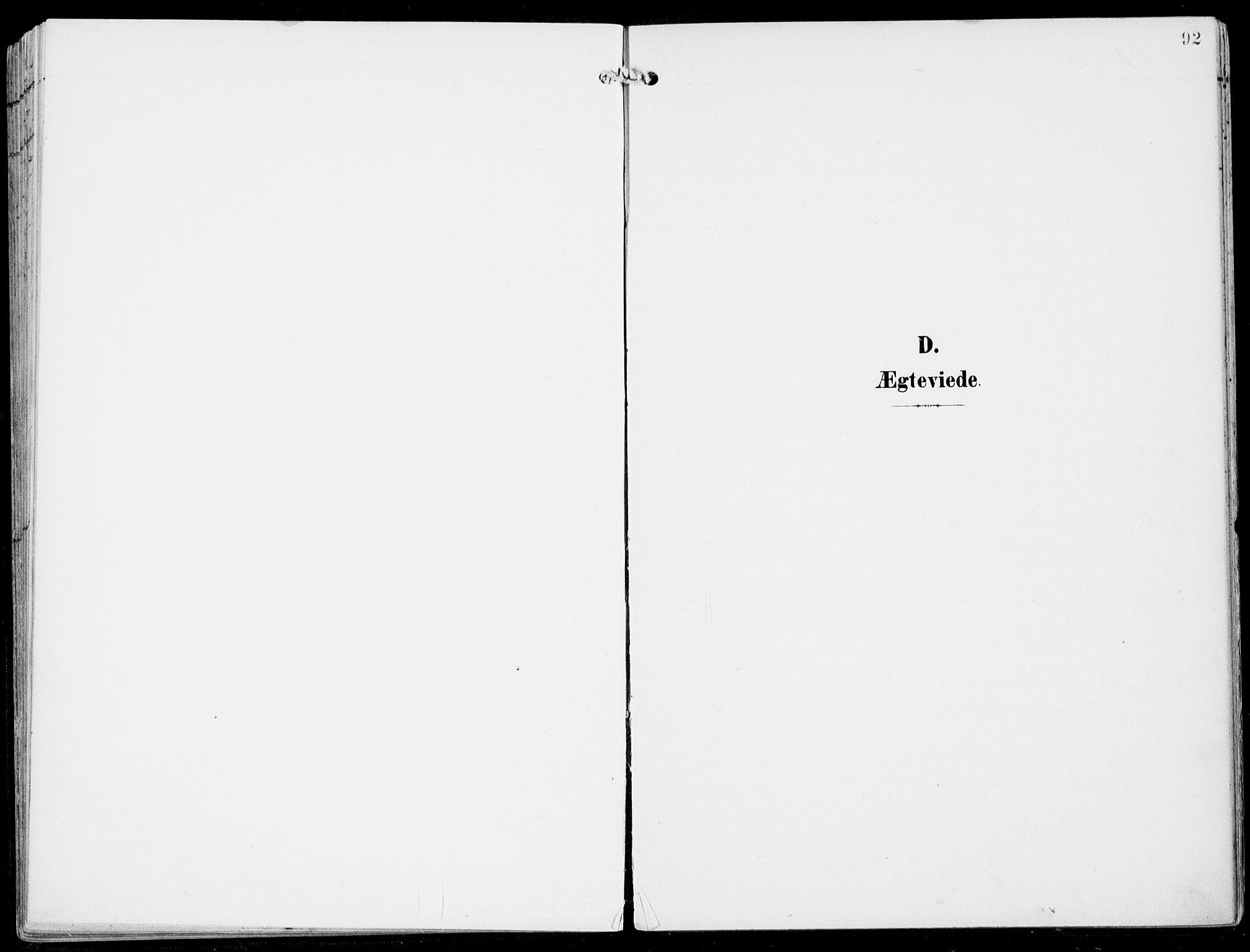 SAB, Ulvik Sokneprestembete, H/Haa: Ministerialbok nr. B  2, 1898-1924, s. 92