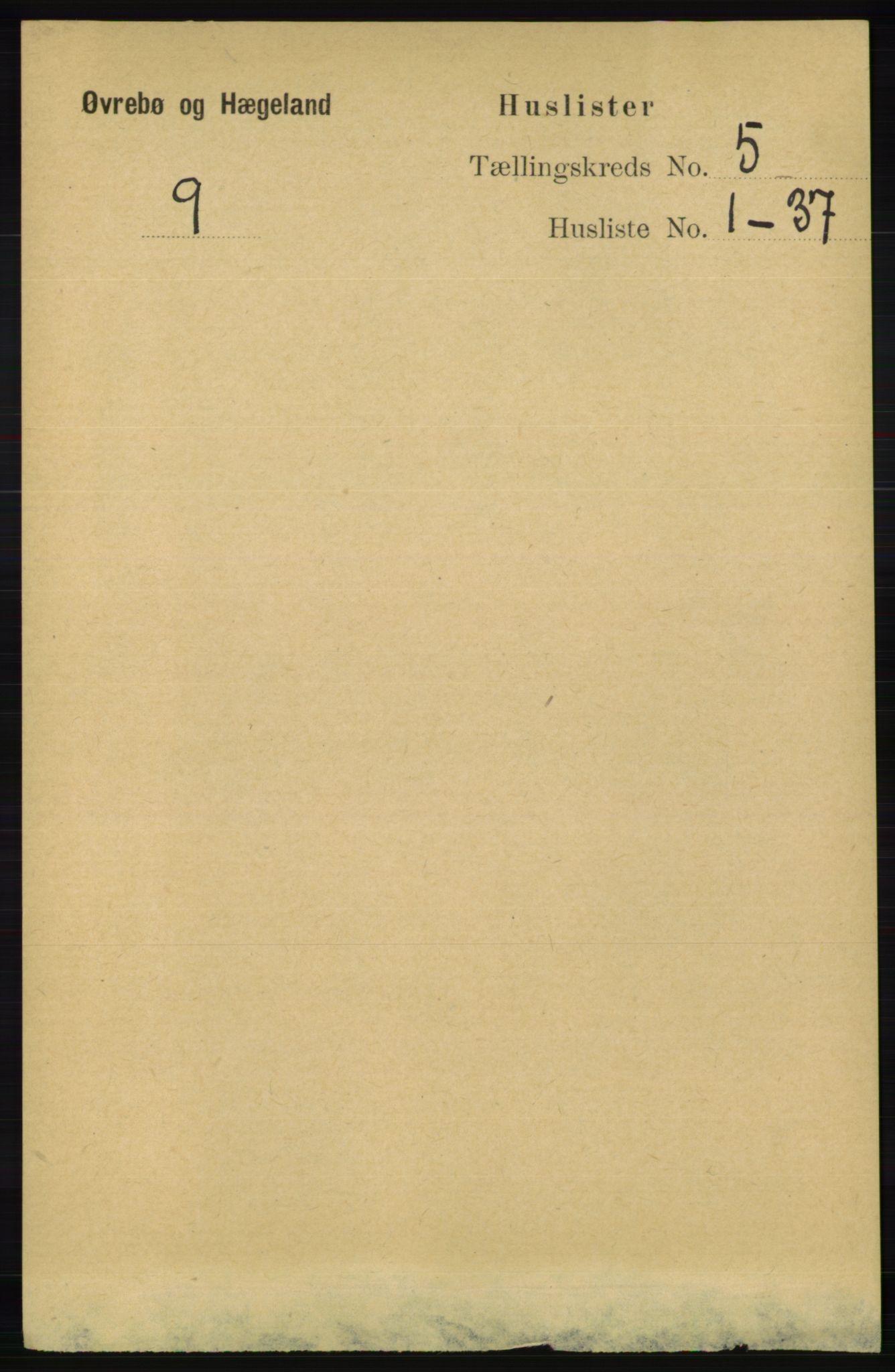 RA, Folketelling 1891 for 1016 Øvrebø og Hægeland herred, 1891, s. 902