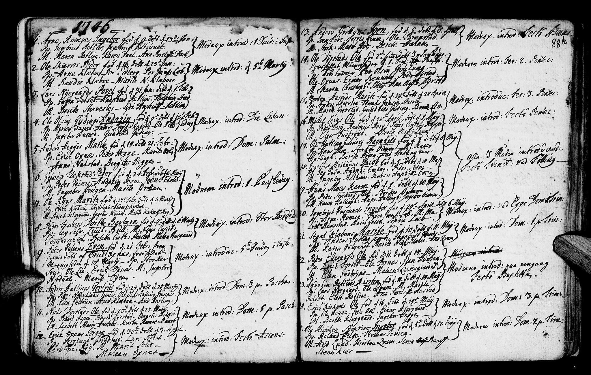 SAT, Ministerialprotokoller, klokkerbøker og fødselsregistre - Nord-Trøndelag, 746/L0439: Ministerialbok nr. 746A01, 1688-1759, s. 88k