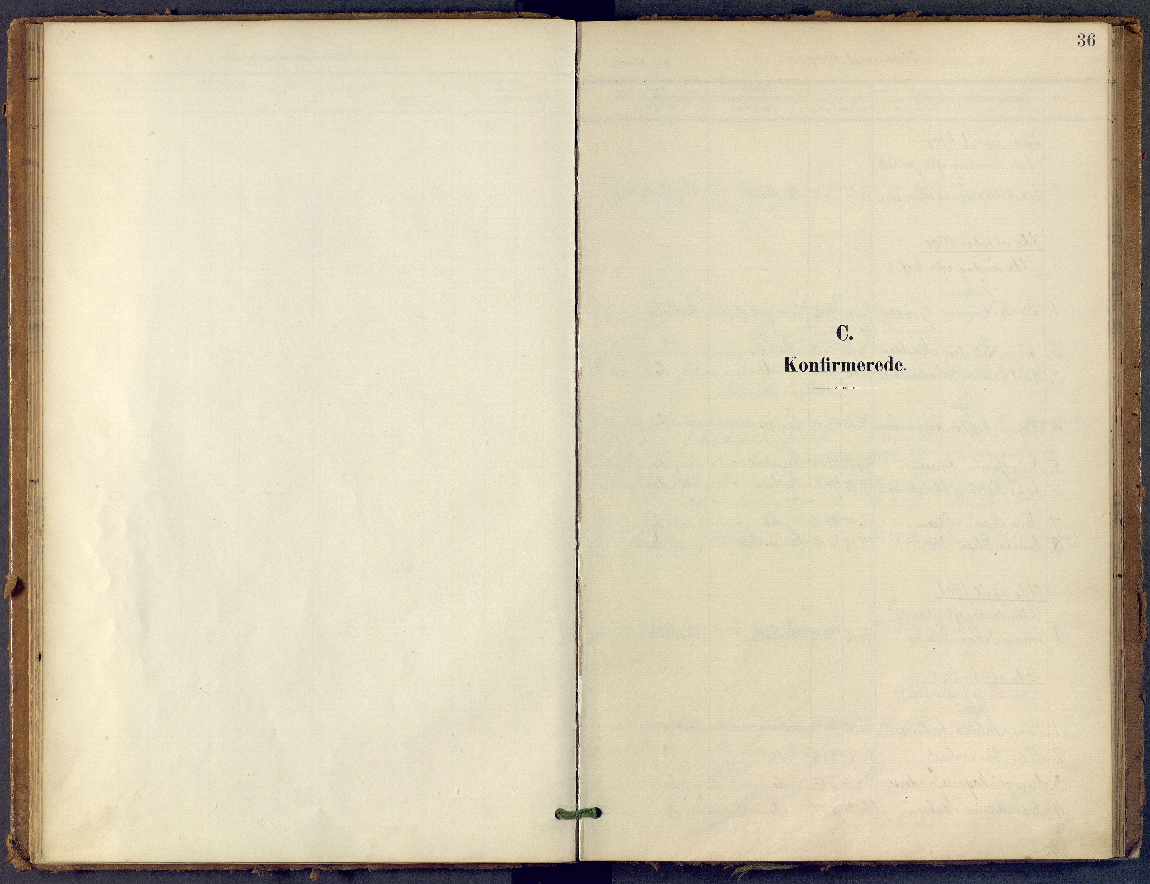 SAKO, Bamble kirkebøker, F/Fb/L0002: Ministerialbok nr. II 2, 1900-1921, s. 36