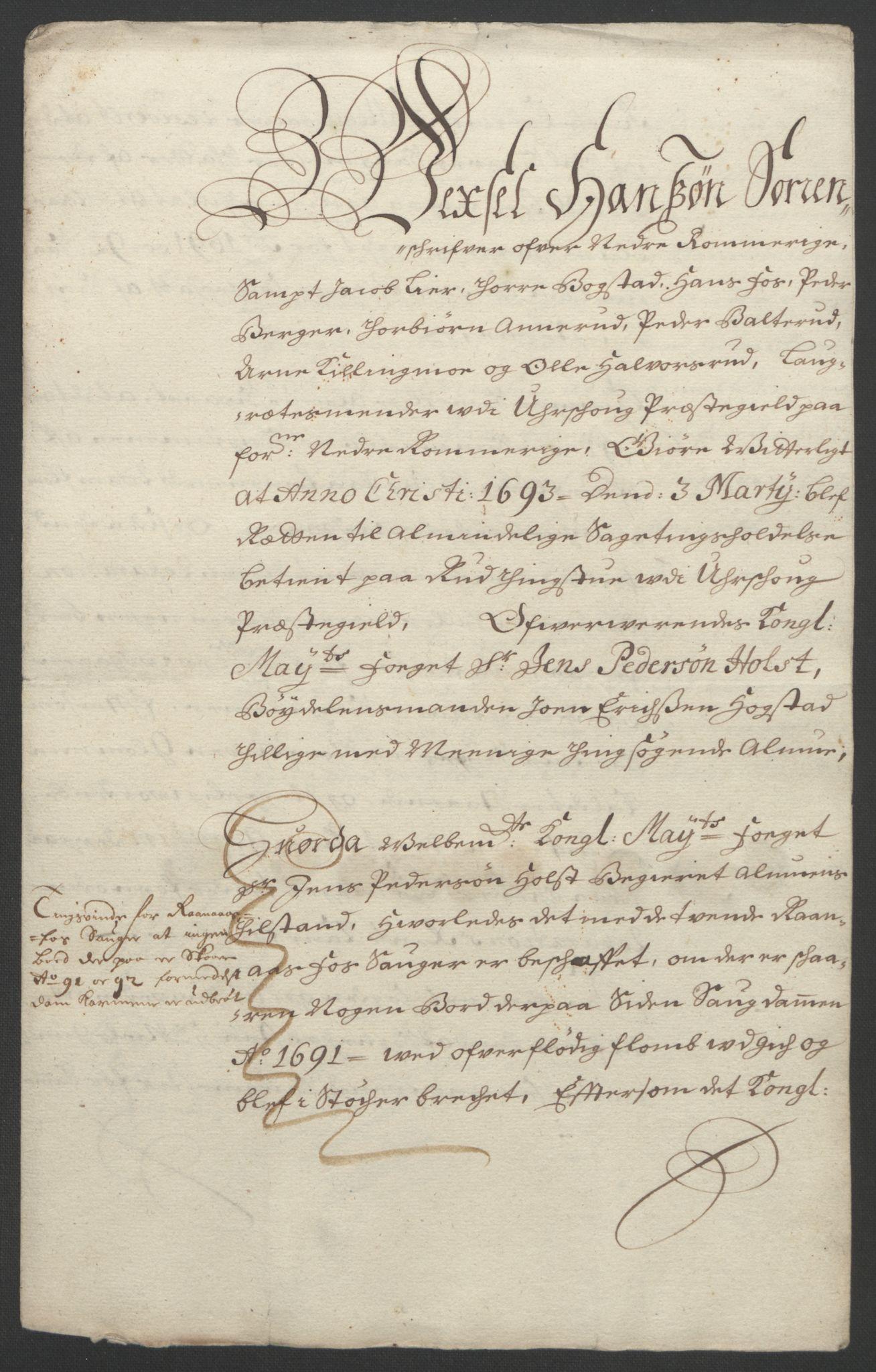 RA, Rentekammeret inntil 1814, Reviderte regnskaper, Fogderegnskap, R11/L0577: Fogderegnskap Nedre Romerike, 1692, s. 270