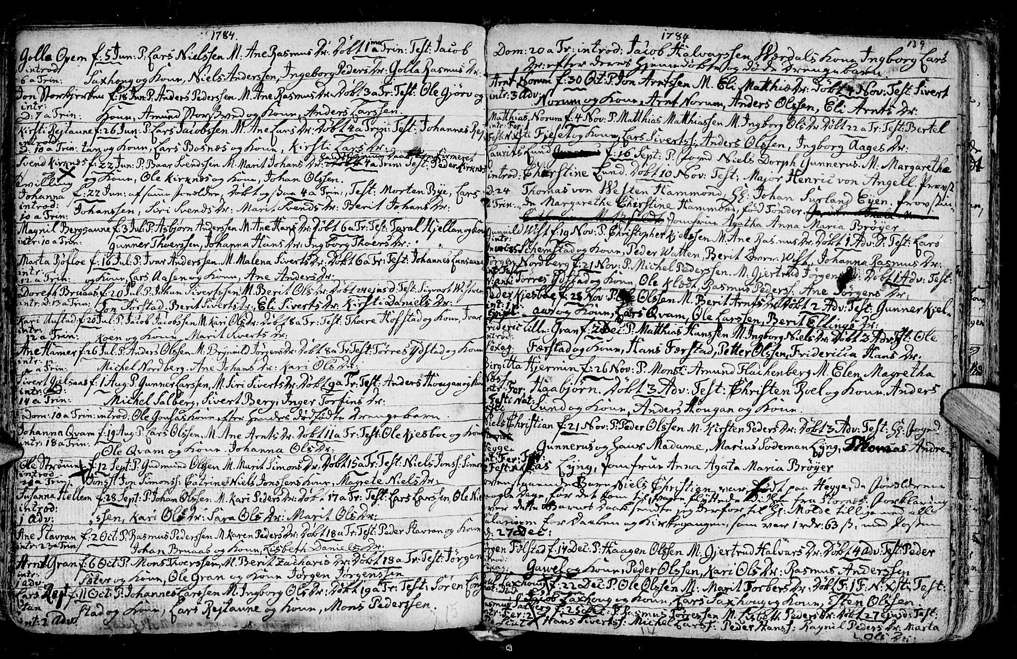 SAT, Ministerialprotokoller, klokkerbøker og fødselsregistre - Nord-Trøndelag, 730/L0273: Ministerialbok nr. 730A02, 1762-1802, s. 139