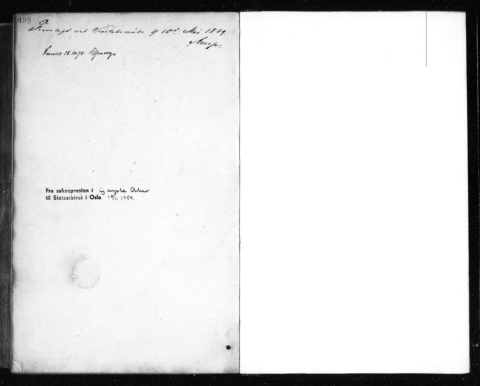 SAO, Gamle Aker prestekontor Kirkebøker, F/L0003: Ministerialbok nr. 3, 1865-1873