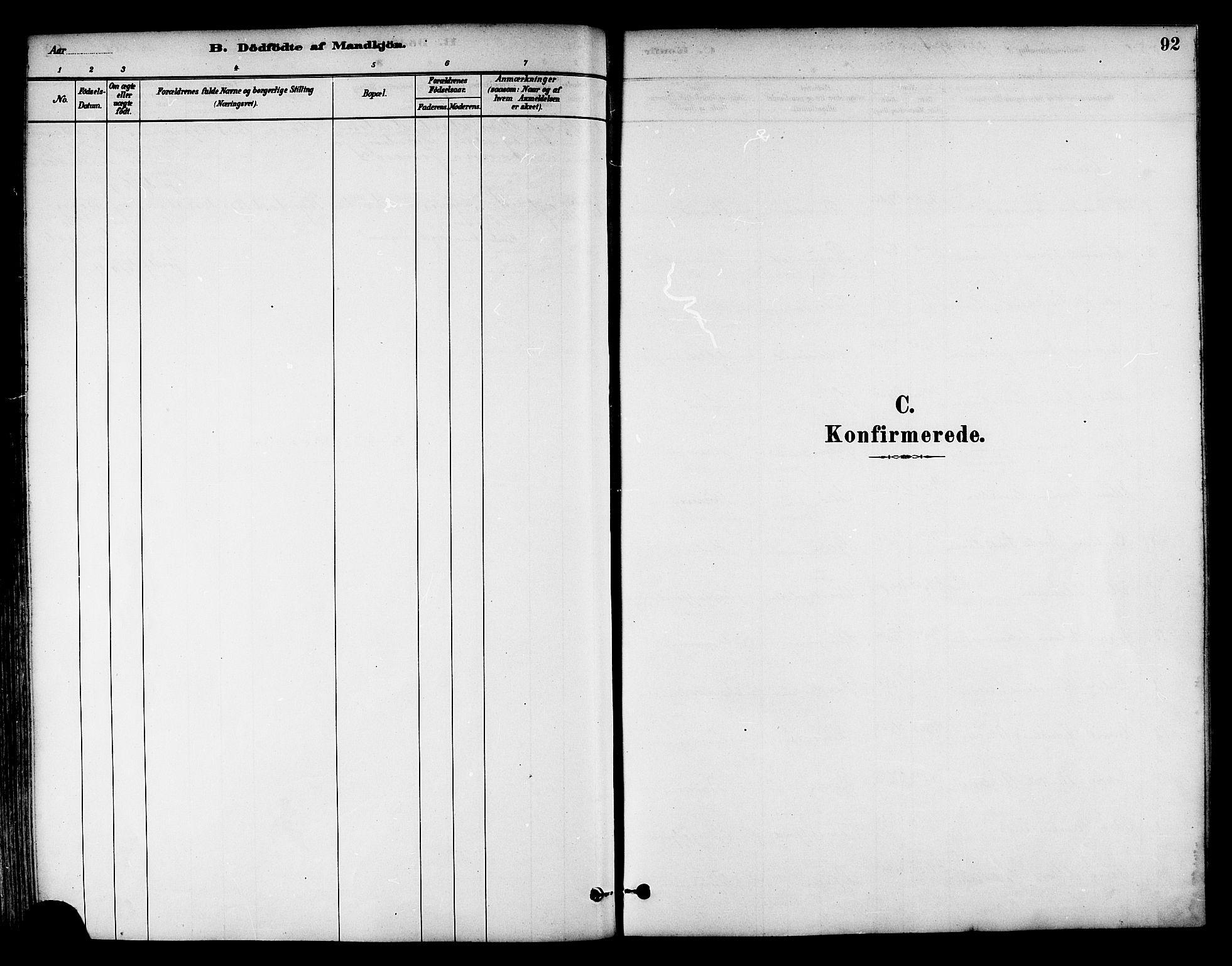 SAT, Ministerialprotokoller, klokkerbøker og fødselsregistre - Nord-Trøndelag, 786/L0686: Ministerialbok nr. 786A02, 1880-1887, s. 92