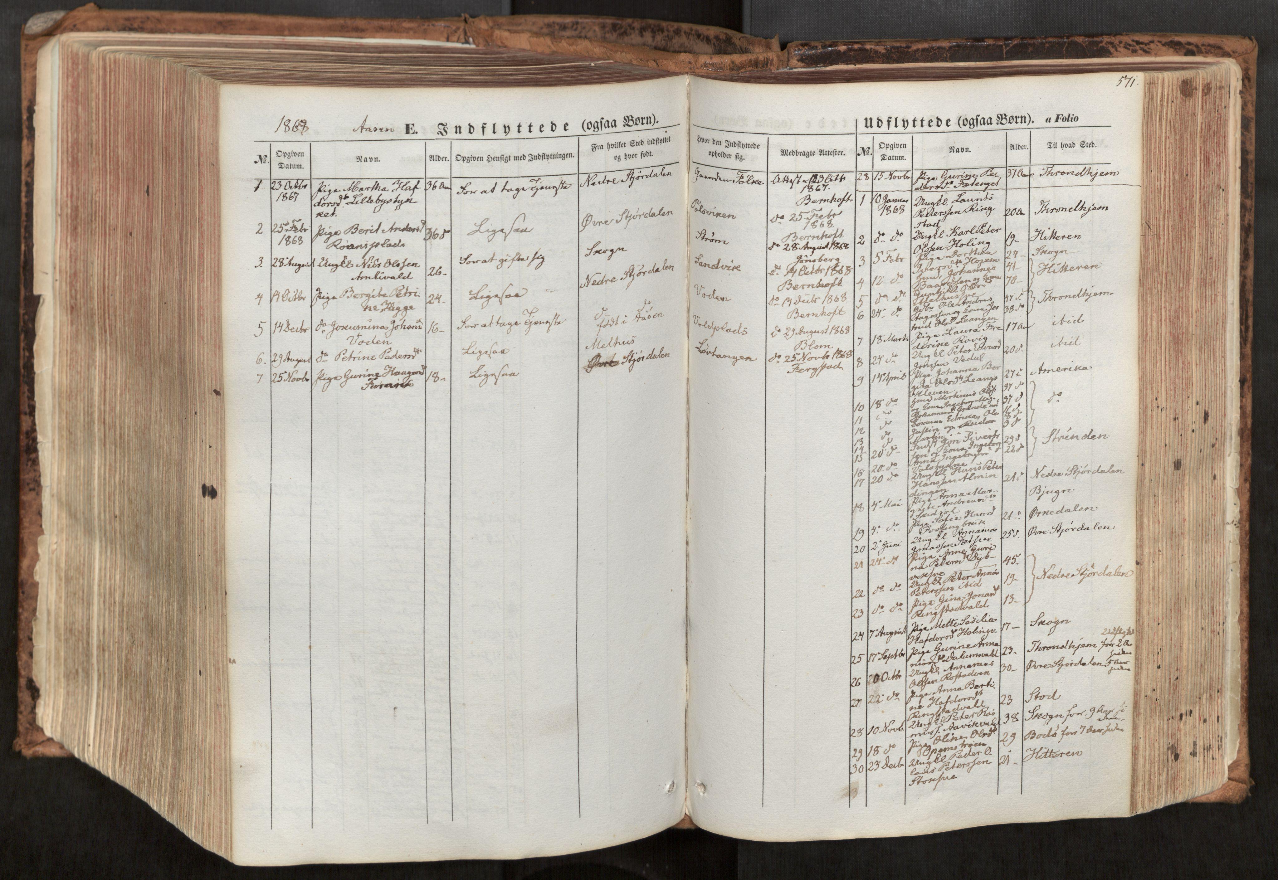 SAT, Ministerialprotokoller, klokkerbøker og fødselsregistre - Nord-Trøndelag, 713/L0116: Ministerialbok nr. 713A07, 1850-1877, s. 571
