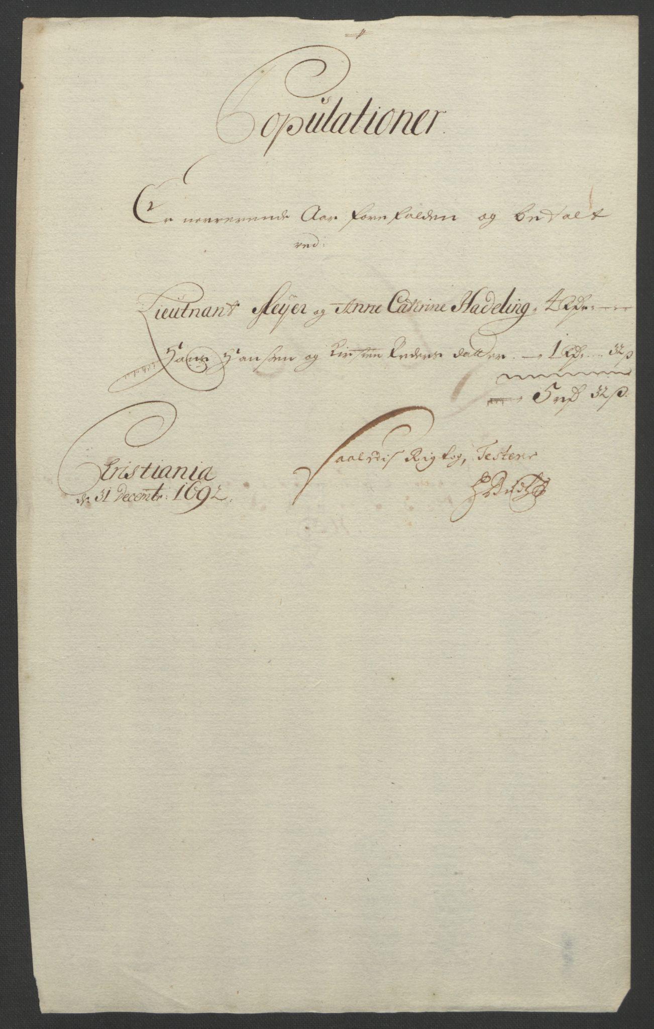 RA, Rentekammeret inntil 1814, Reviderte regnskaper, Fogderegnskap, R18/L1291: Fogderegnskap Hadeland, Toten og Valdres, 1692, s. 136