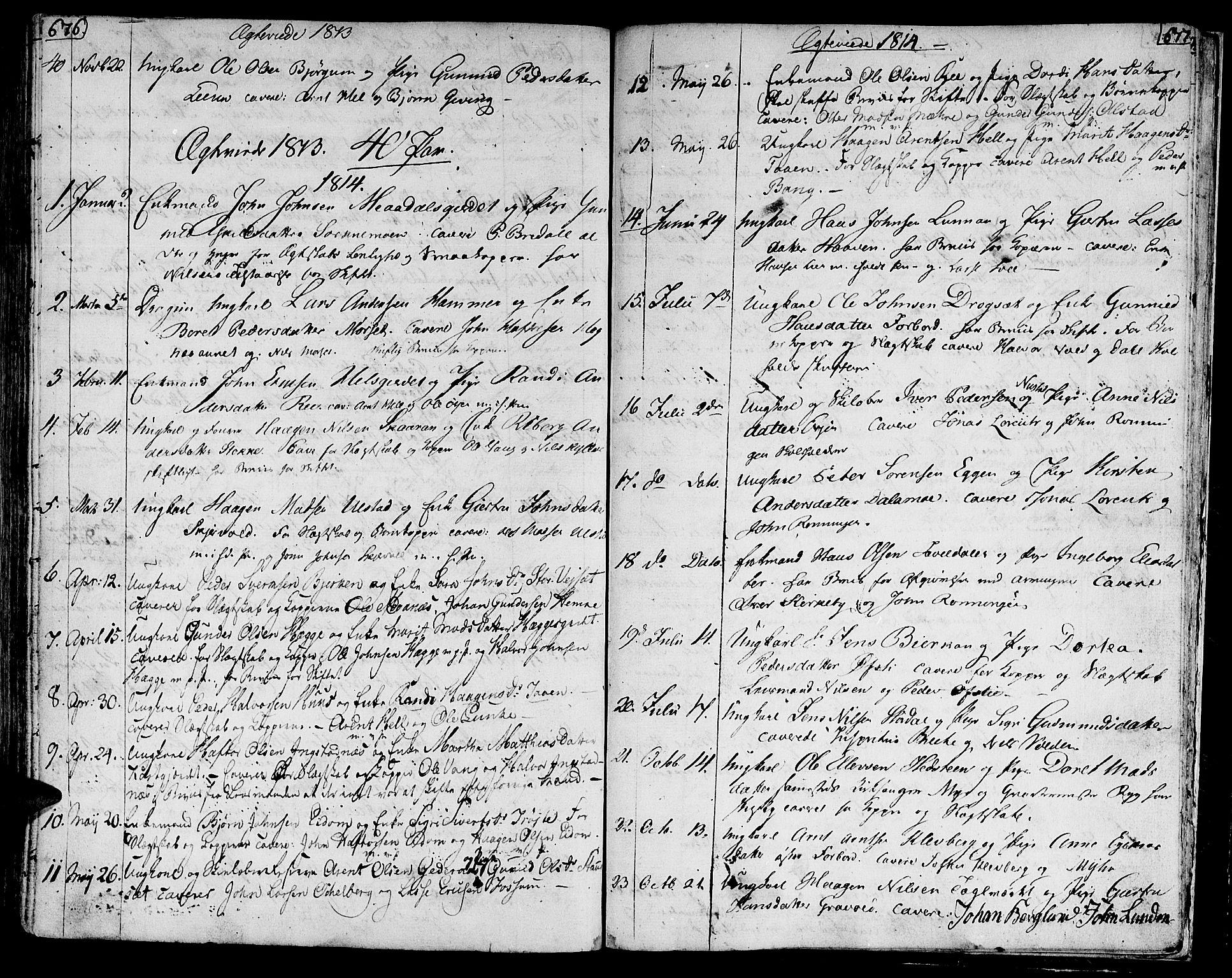 SAT, Ministerialprotokoller, klokkerbøker og fødselsregistre - Nord-Trøndelag, 709/L0060: Ministerialbok nr. 709A07, 1797-1815, s. 676-677