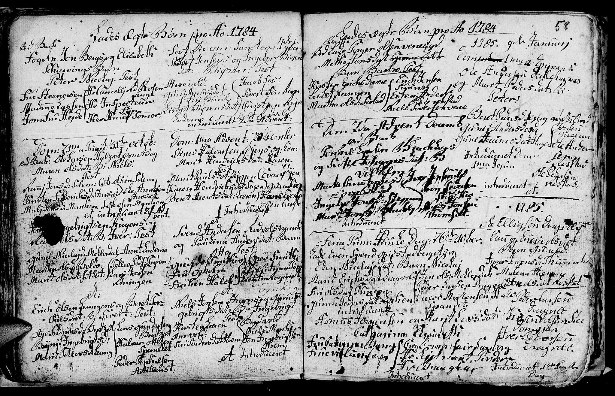 SAT, Ministerialprotokoller, klokkerbøker og fødselsregistre - Sør-Trøndelag, 606/L0305: Klokkerbok nr. 606C01, 1757-1819, s. 58