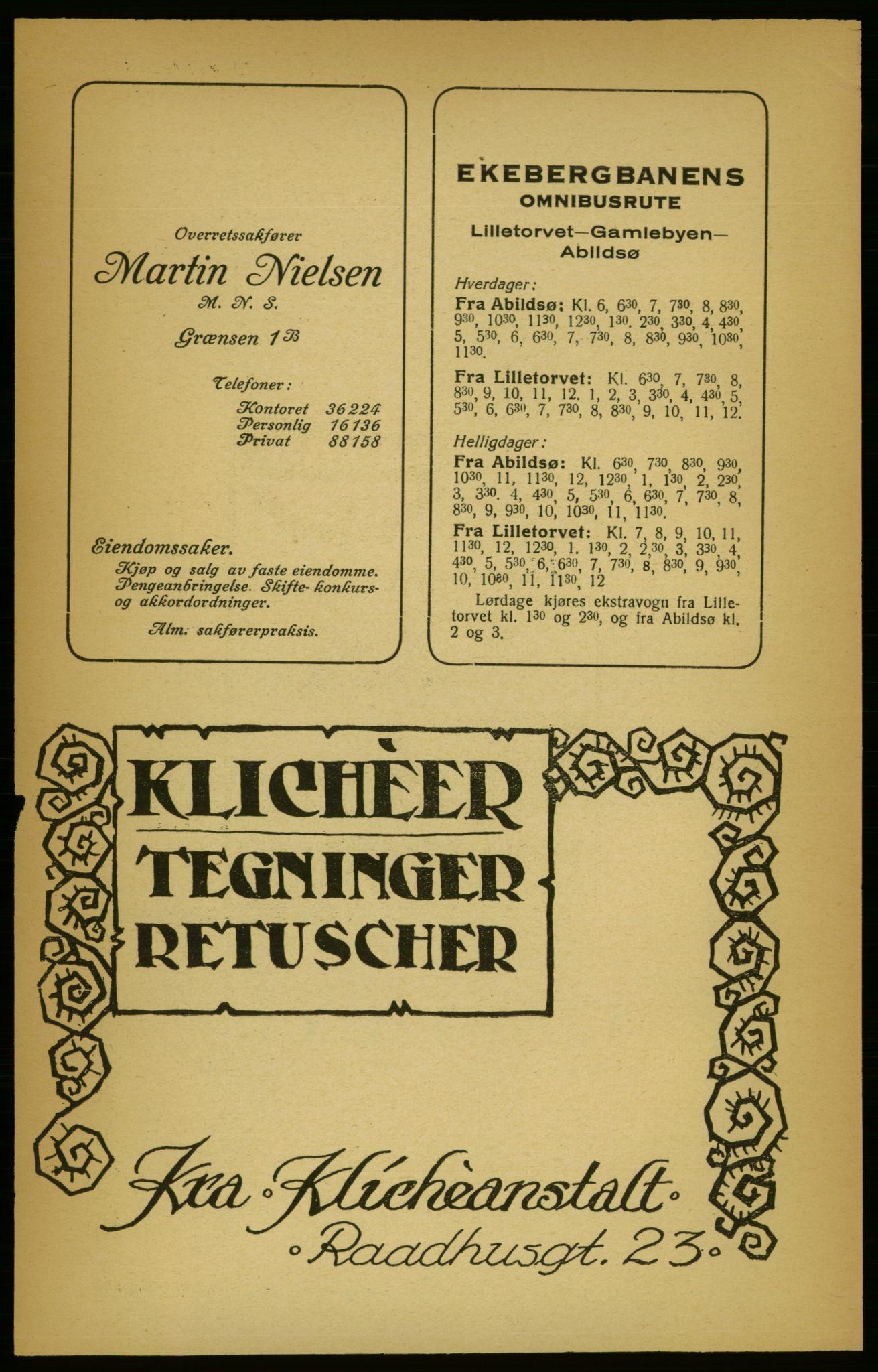PUBL, Aker adressebok/adressekalender, 1924-1925